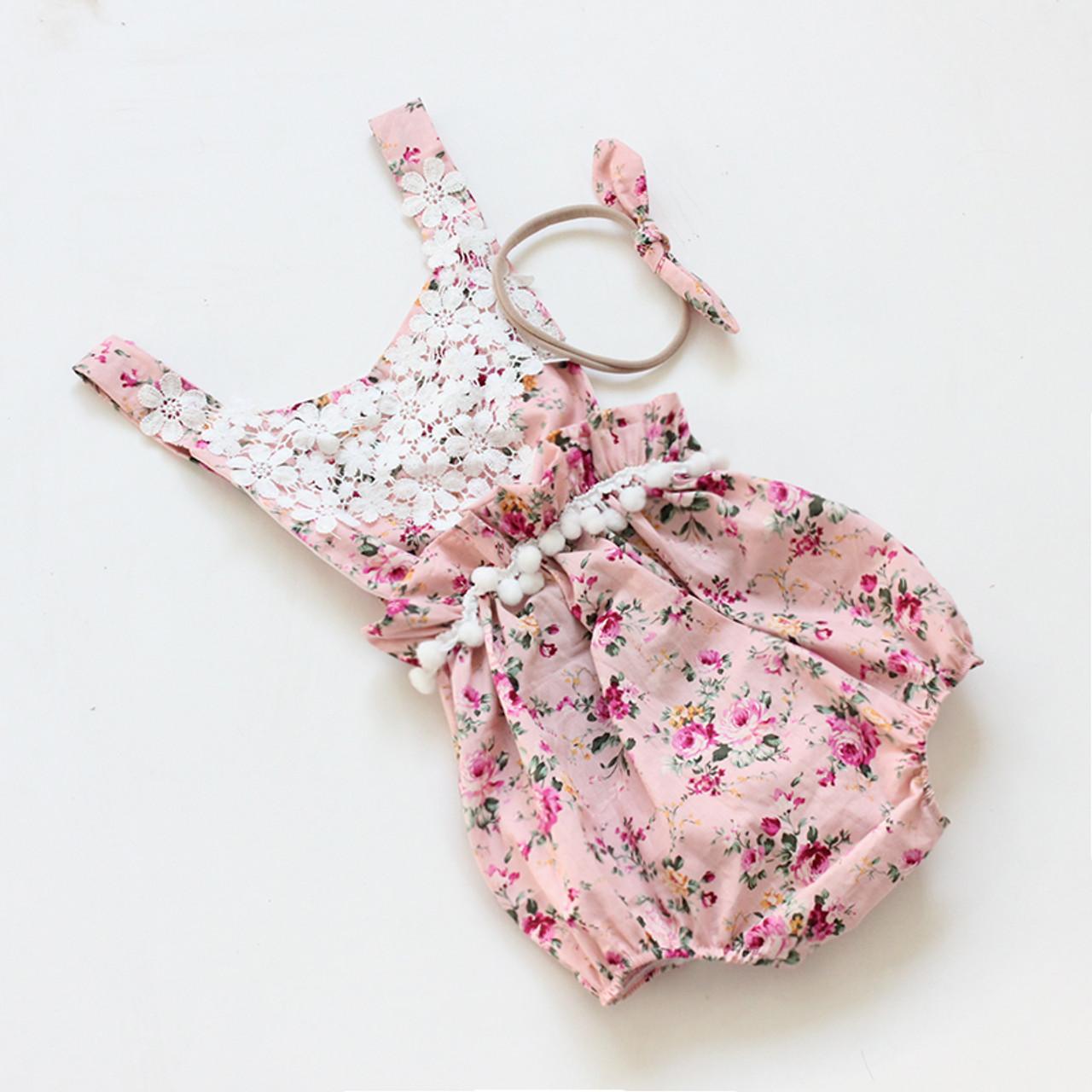 2017 Direct Selling New Belt Cute Baby Rompers Summer Ruffled Flower Girl Costum