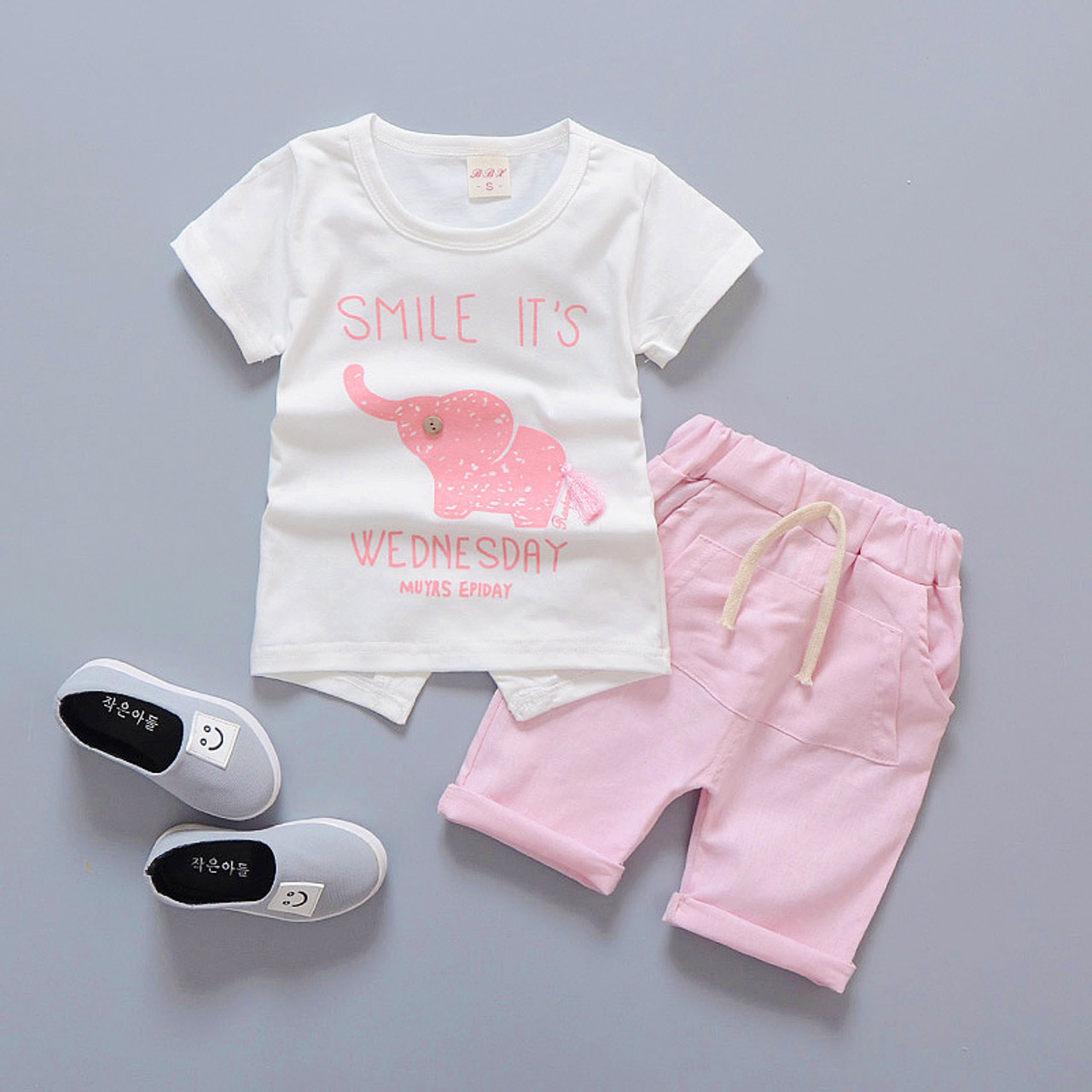 c83df7930c01 ... Baby Boy Clothes 2017 Summer Brand Infant Clothing Elephant Short  Sleeved T-shirts Tops Striped ...