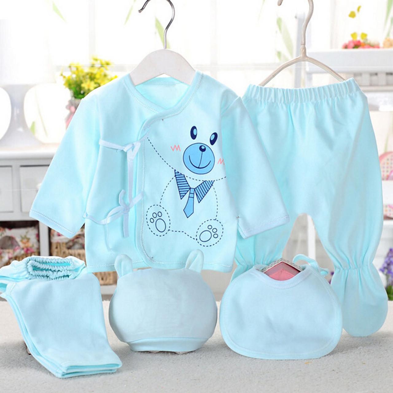 63e96b8d7499 Bekamille Newborn baby sets ( 5pcs set) infant underwear set unisex ...