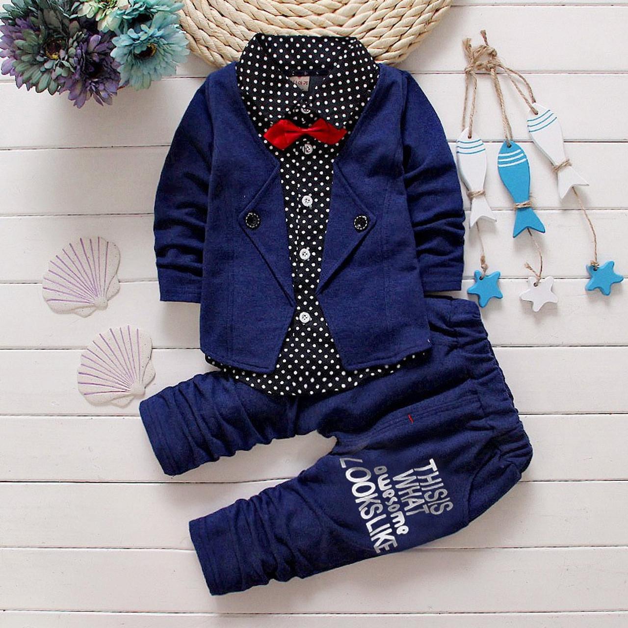 11b3445a3f7a1 BibiCola Spring Autumn Baby Boys Clothing Set Casual Kids Sport suit Infant  Toddler Boys Clothes Top Coat + Pants Tracksuit Set