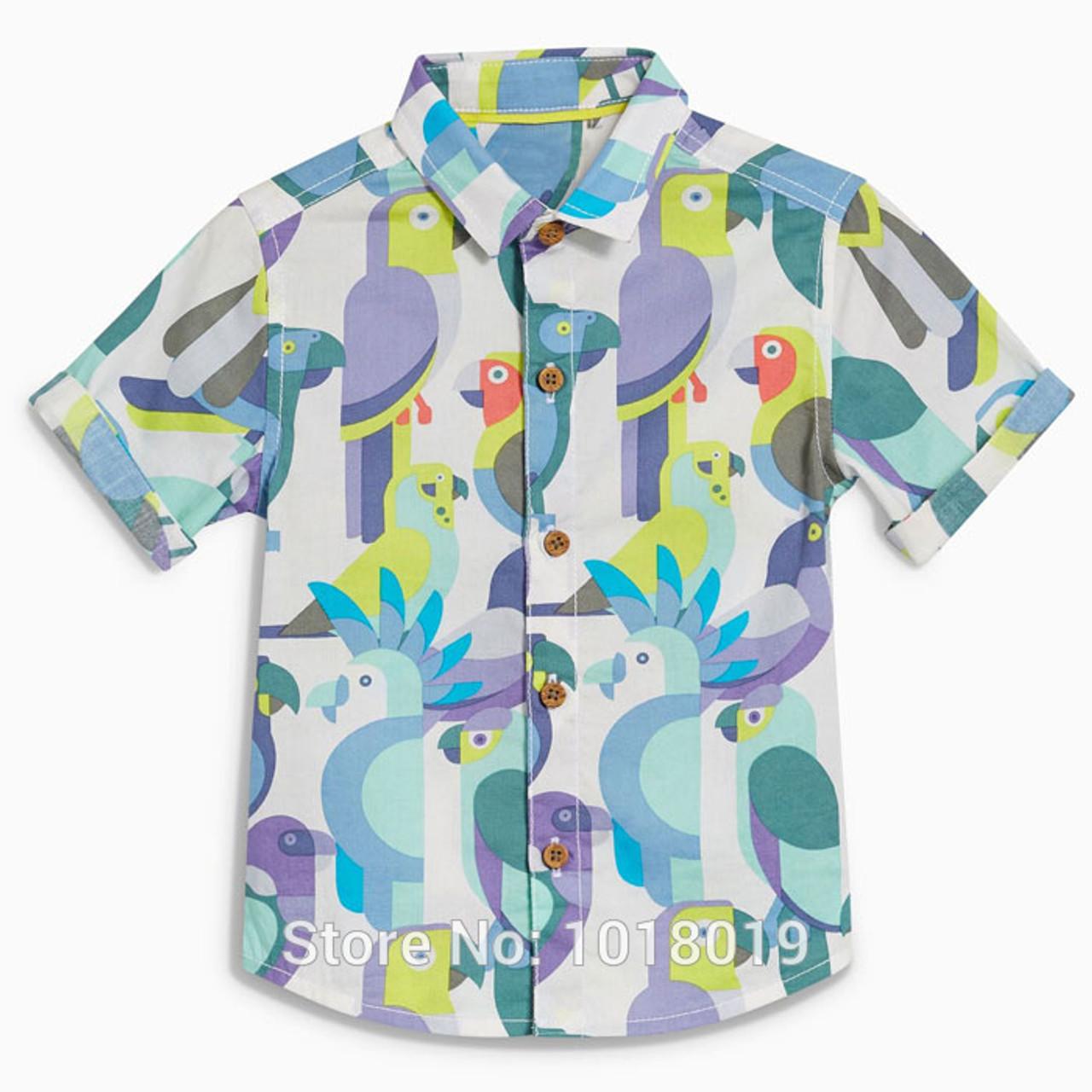 Summer Toddler Kids Baby Boy Short Sleeve T-Shirt Tee Tops Casual Blouse 1-7T