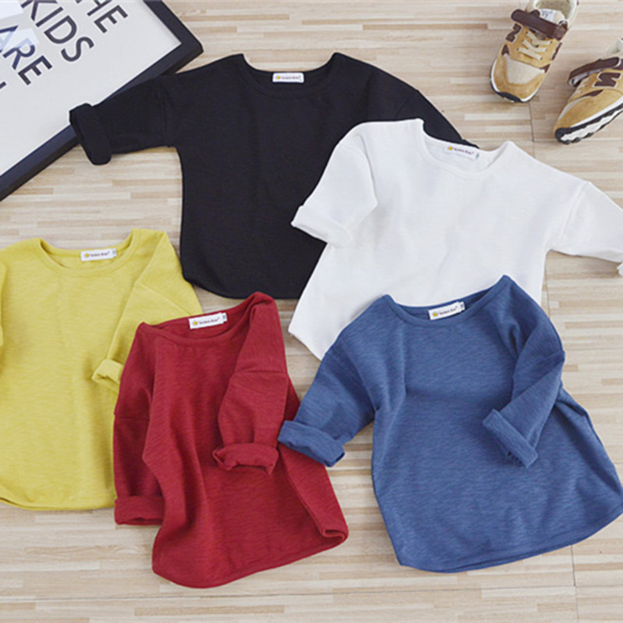 2018 New Spring Baby T Shirts Girl Boys Solid Color Long Sleeve T-shirt 1  ... 413913ccea5