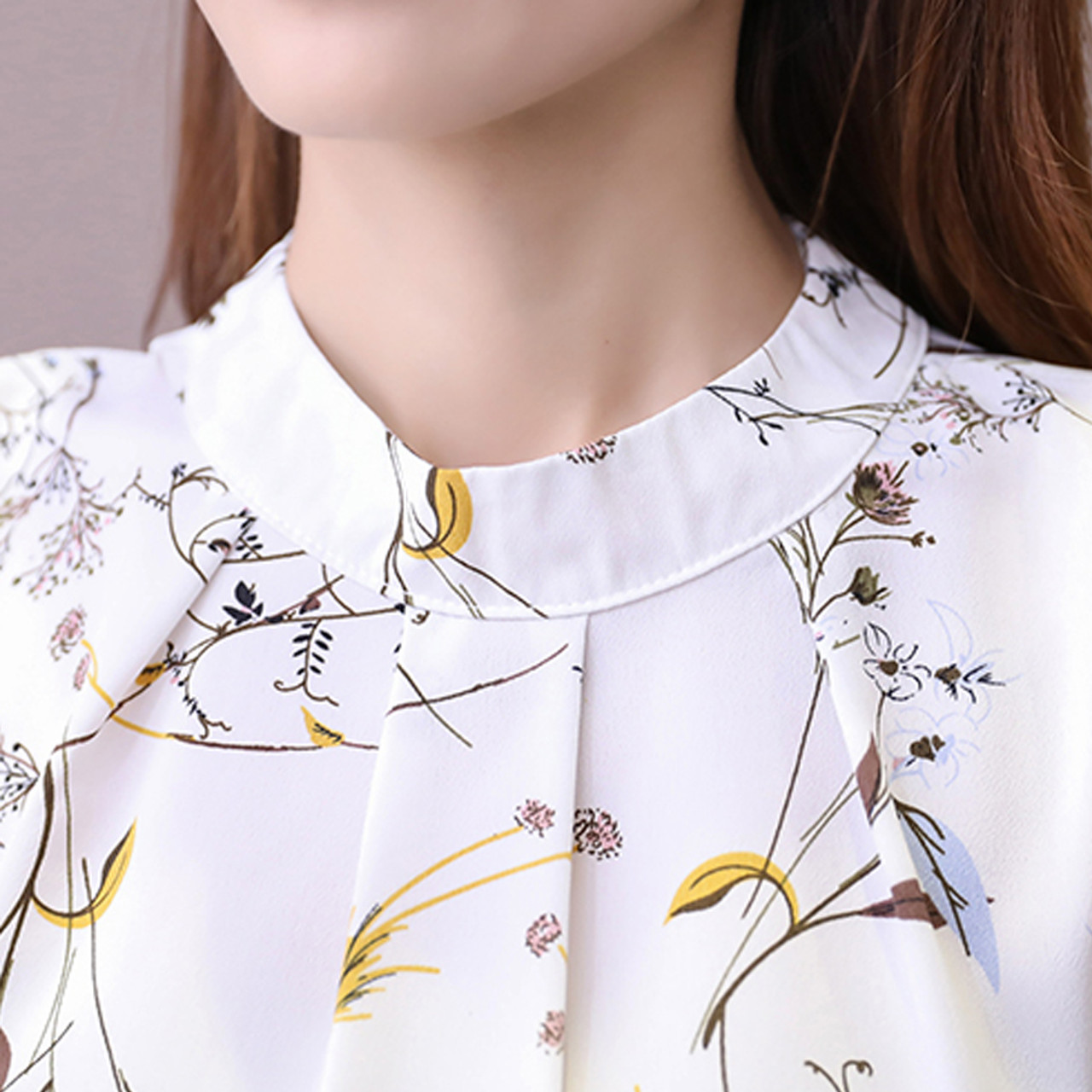 027f94d9825 ... 2018 Summer Cold Shoulder Chiffon Floral Printed Blouse Shirt Women Tops  Elegant Plus Size Ladies Korea ...