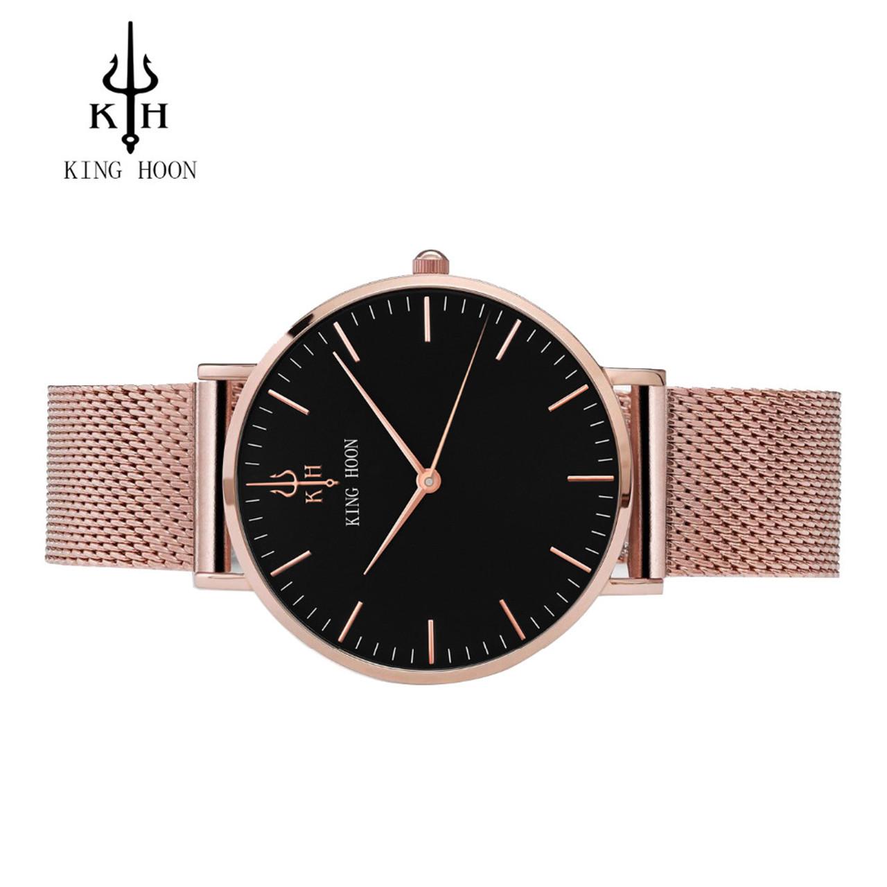 4732489dcd1 ... KING HOON Women Watches Luxury Brand Fashion Quartz Ladies Stainless  Steel Bracelet Watch Casual Clock montre ...