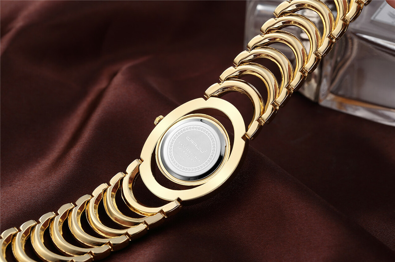 0932a63720e1b ... CRRJU Luxury Women Watch Famous Brands Gold Fashion Design Bracelet  Watches Ladies Women Wrist Watches Relogio