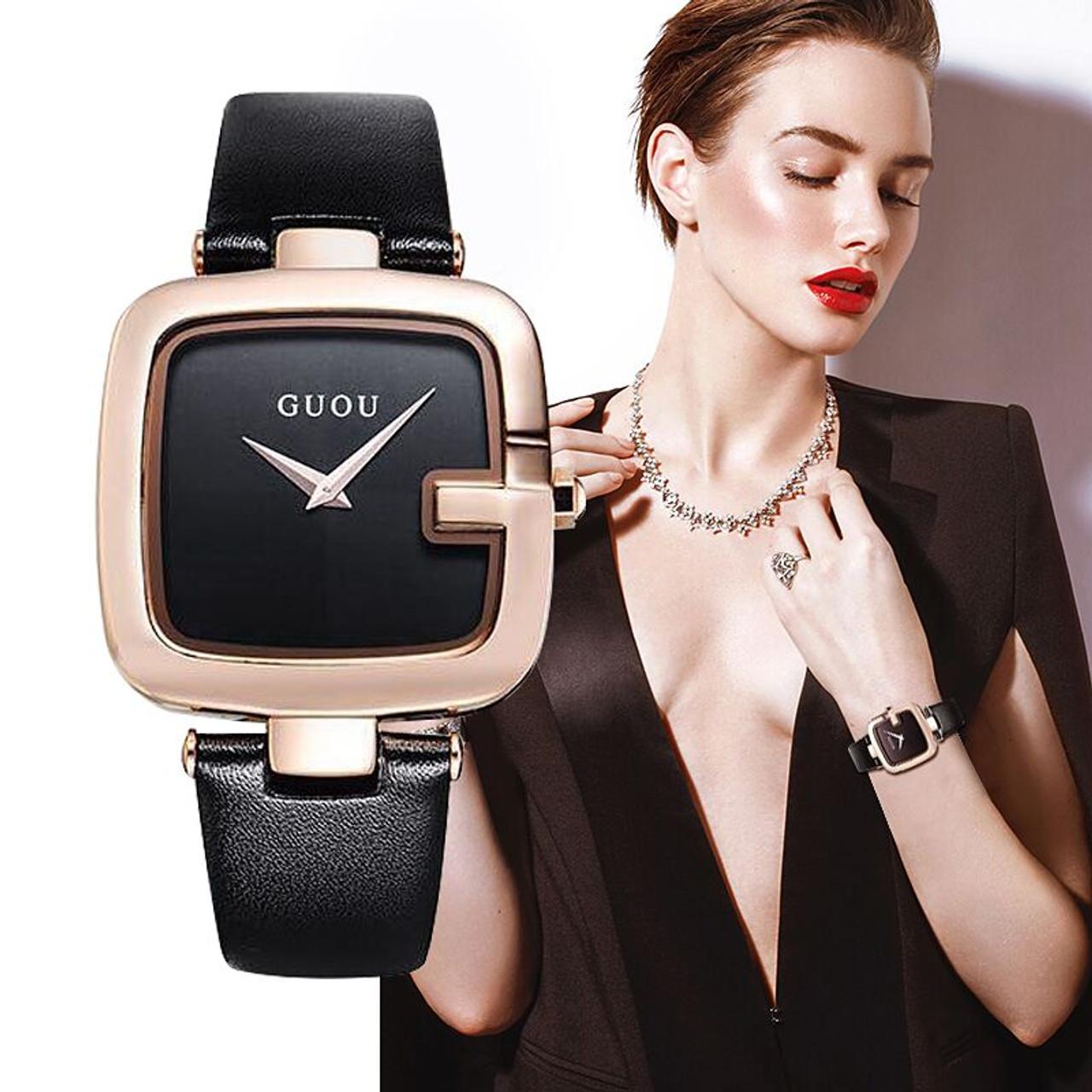 44592cb65 ... Women's Watches GUOU Montre Femme Fashion Ladies Bracelet Watches For  ...