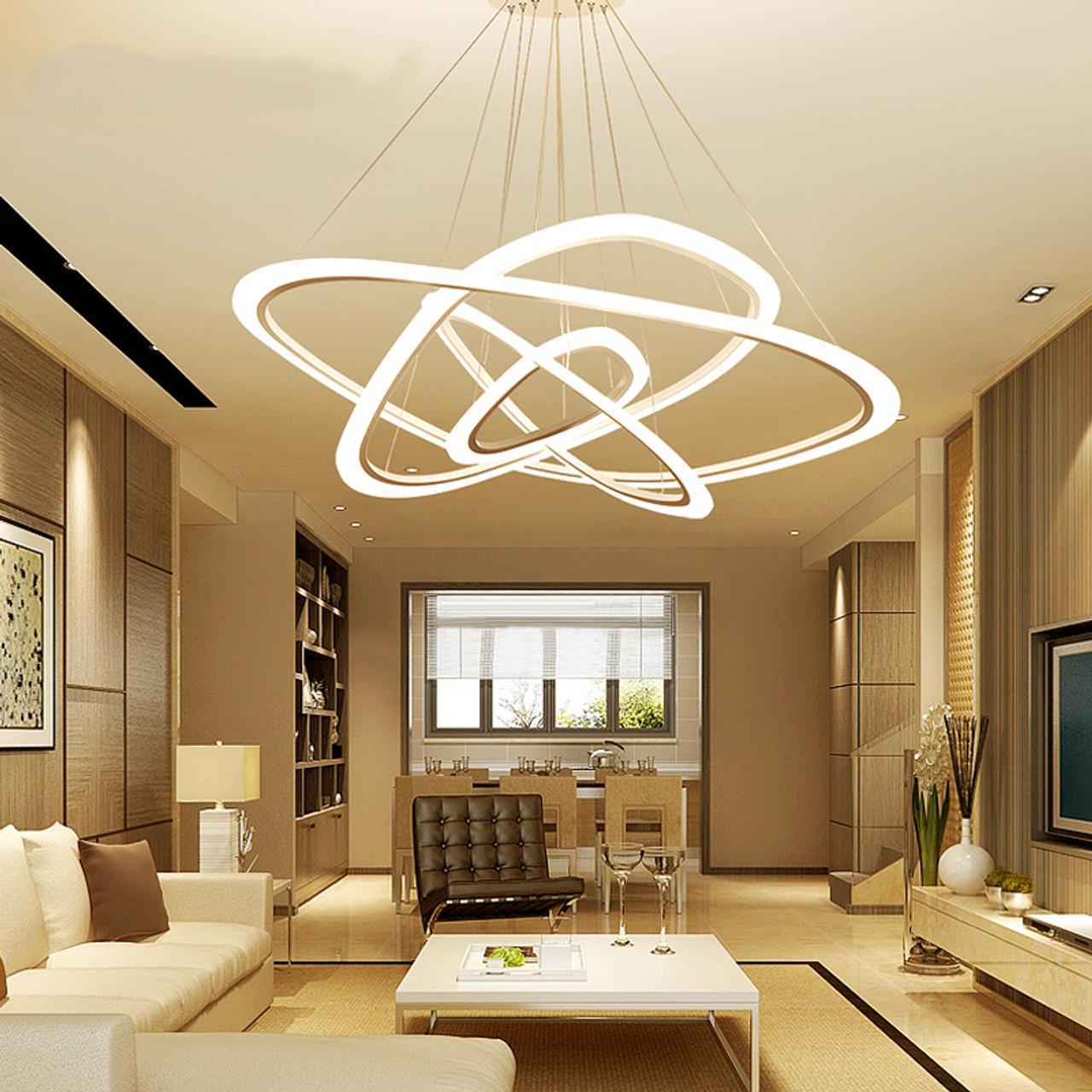 Led Chandelier Loft Illumination Nordic Suspension Luminaire Home
