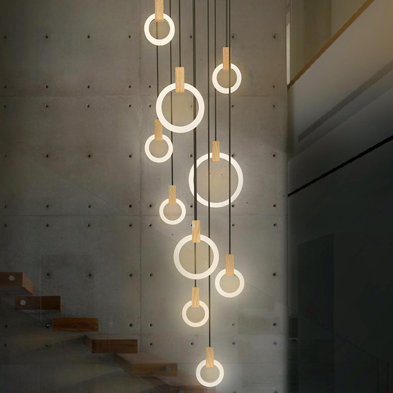 Ceiling Lights & Fans Post-modern Led Chandelier Wooden Bedroom Suspended Lighting Loft Novelty Fixtures Nordic Luminaires Living Room Hanging Lights