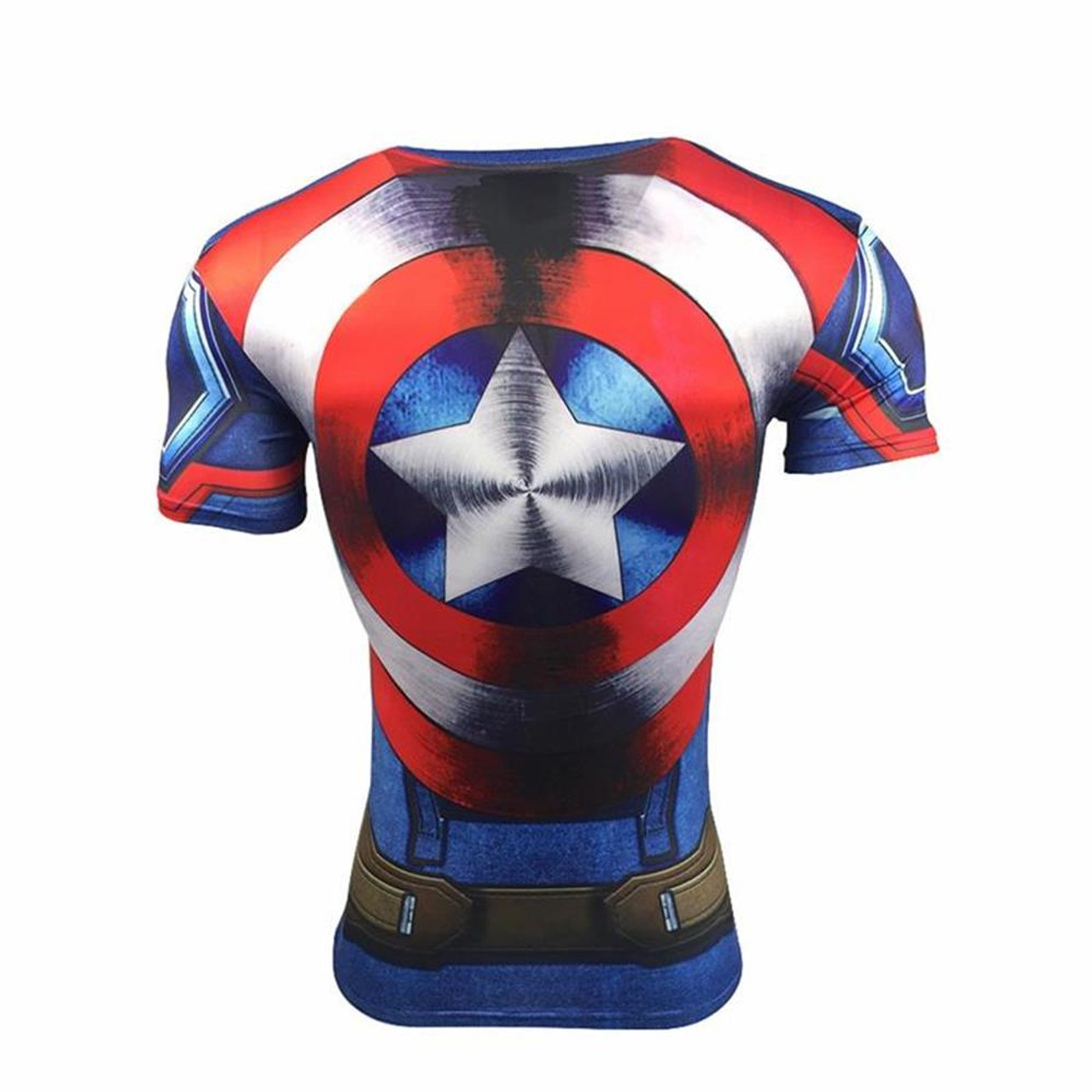 aa0fea43e66 ... 2018 Superman Captain America Sports T-Shirt 3D Print Running Fitness  Wear Stretch GYM Compression ...