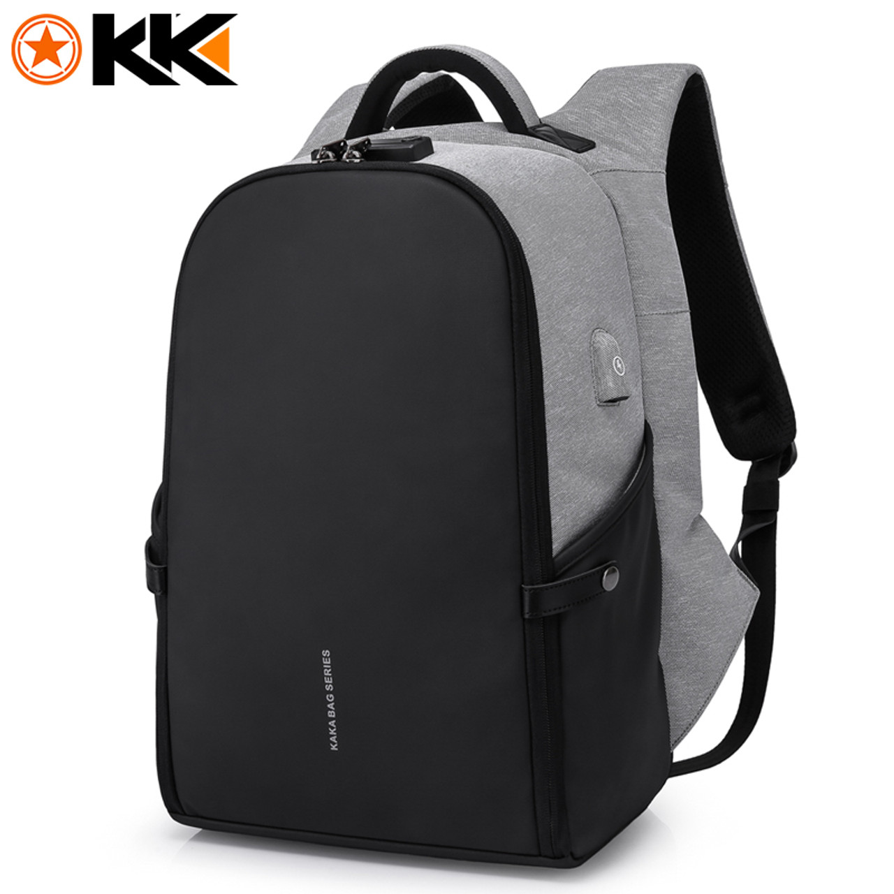 a205070a5309 KAKA New 15.6inch Laptop Backpack Male USB Business Anti theft Backpack for  Men Mochila Fashion Travel Backpacks School Bags 806