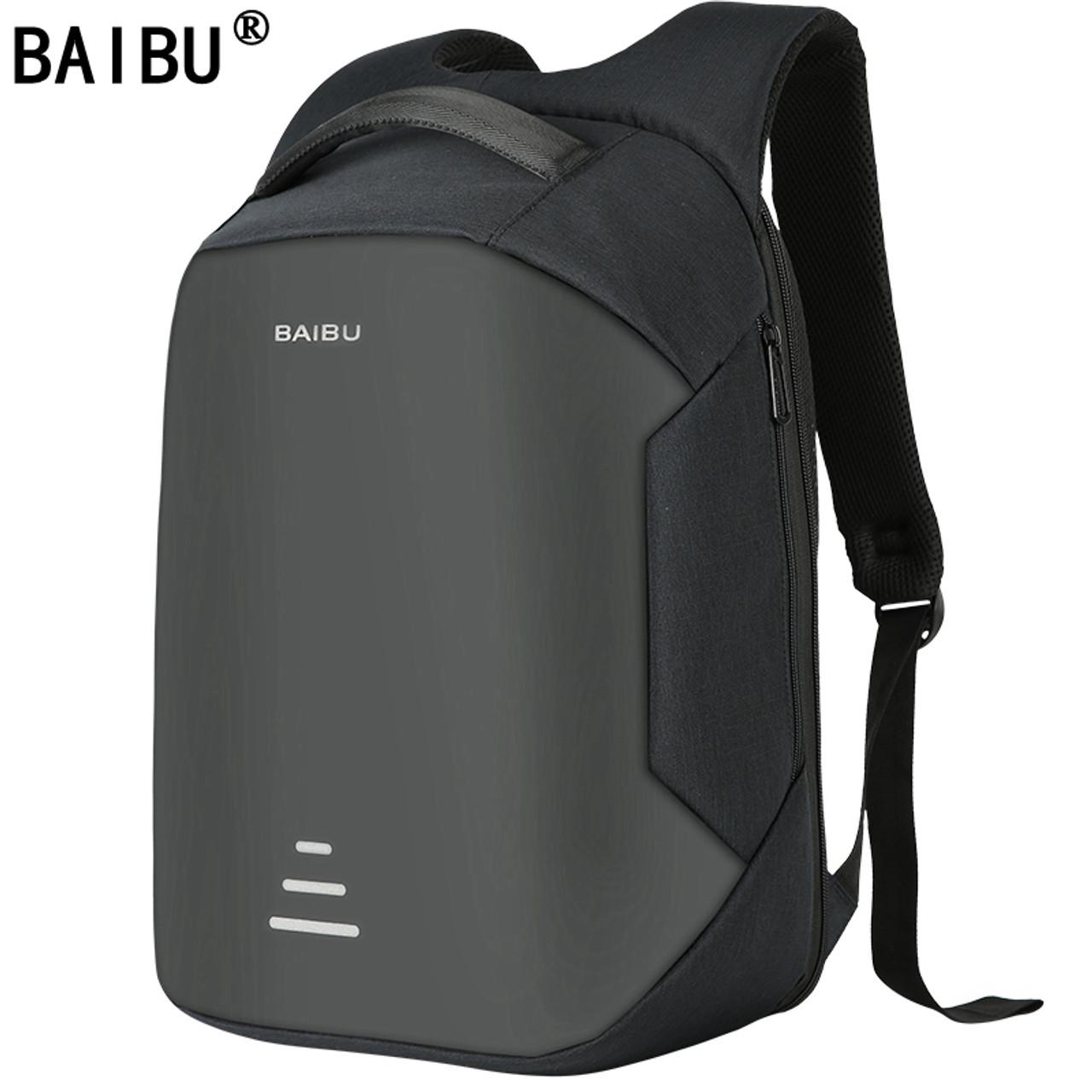 "Waterproof 15.6/"" Laptop Backpack Men Women Anti-theft School Travel Bag USB Port"