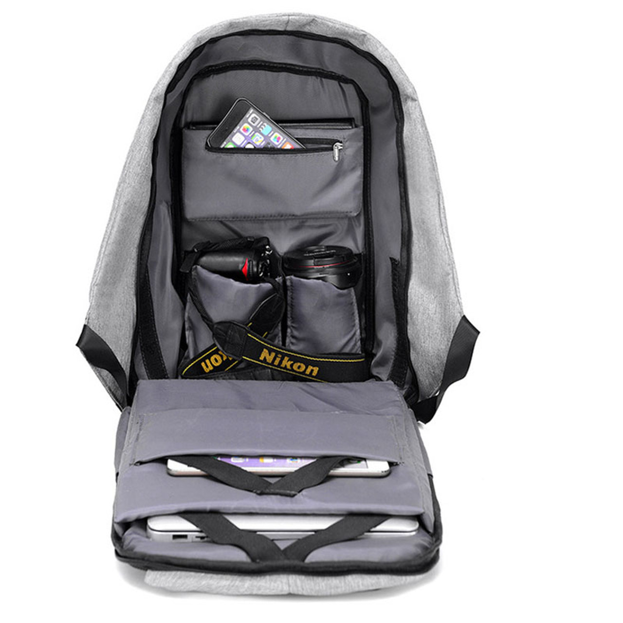 26ce6f97e22 ... 15 inch Laptop Backpack USB Charging Anti Theft Backpack Men Travel  Backpack Waterproof School Bag bobby ...