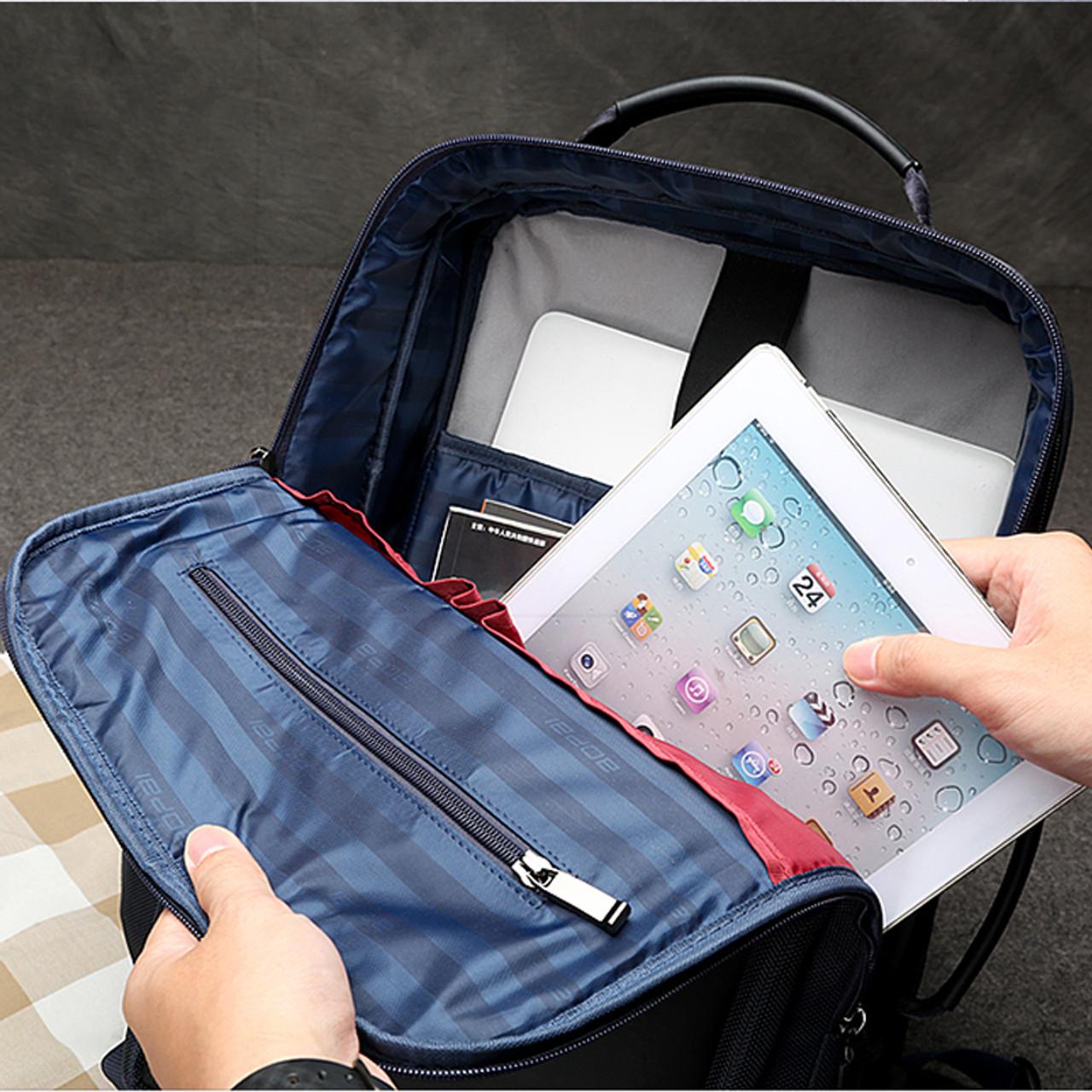 518ad22c21 ... BOPAI Anti theft Enlarge Backpack USB External Charge 15.6 Inch Laptop Backpack  Men Waterproof School Backpack ...