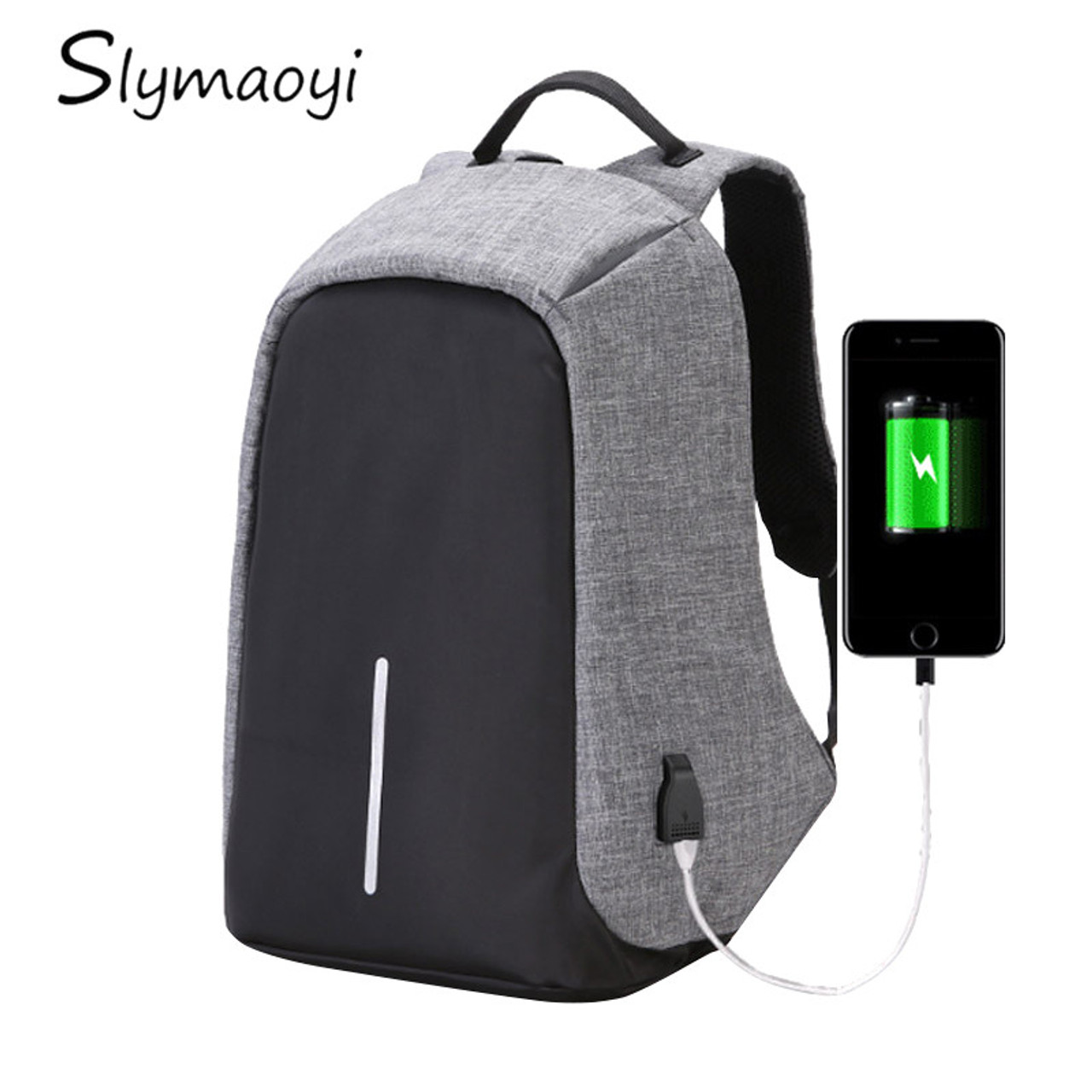 a2baa6085fb0 Multifunction Canvas Men Backpack Anti Theft With Usb Charging Laptop  Business Knapsack Shoulder Waterproof Women Travel Bag