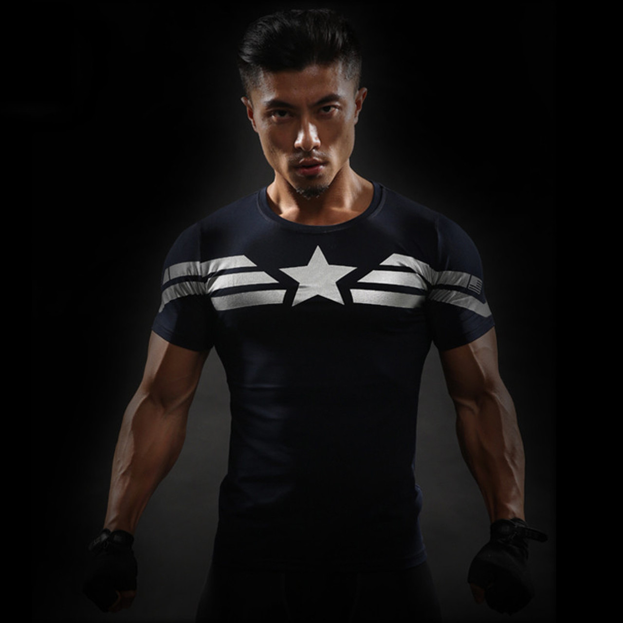 98784fbe ... Captain America 3D T Shirt Men Fitness Compression Shirts Tops Male  Print Superhero Superman punisher Crossfit ...