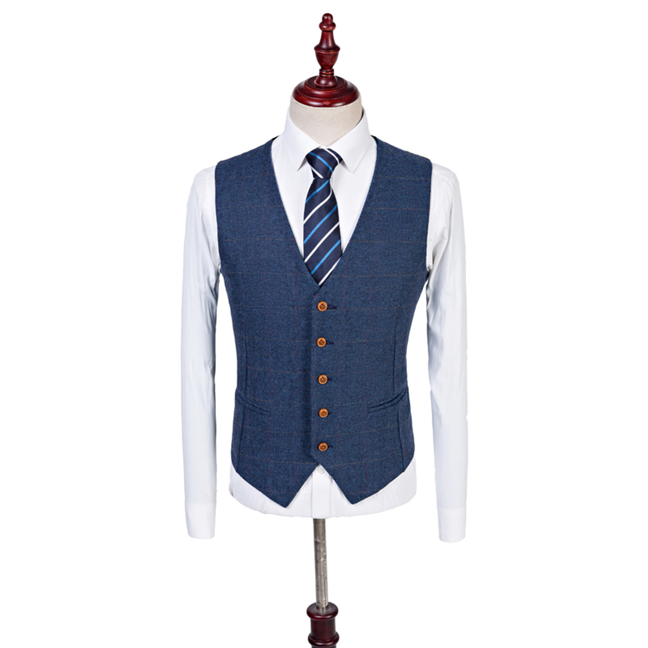 b8faca8bb6 ... Latest Coat Pant Design Custom Made Wool Blue Herringbone Retro  gentleman Style Men Wedding Suits Tailor ...