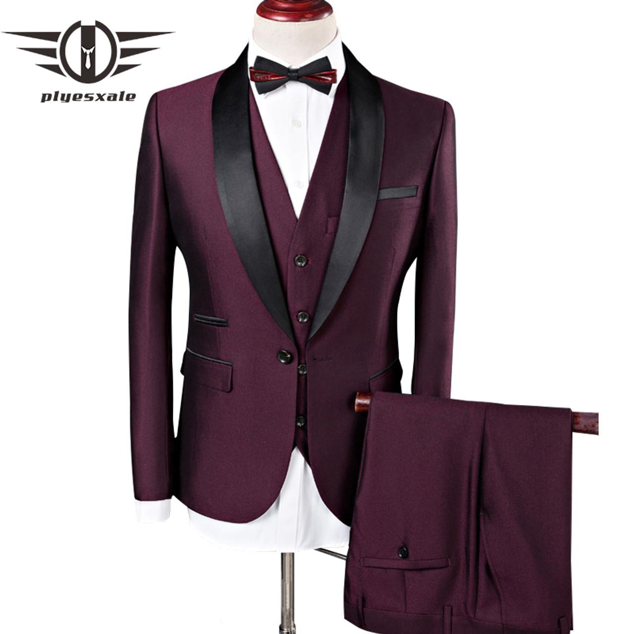 plyesxale men suit 2018 wedding suits for men shawl collar