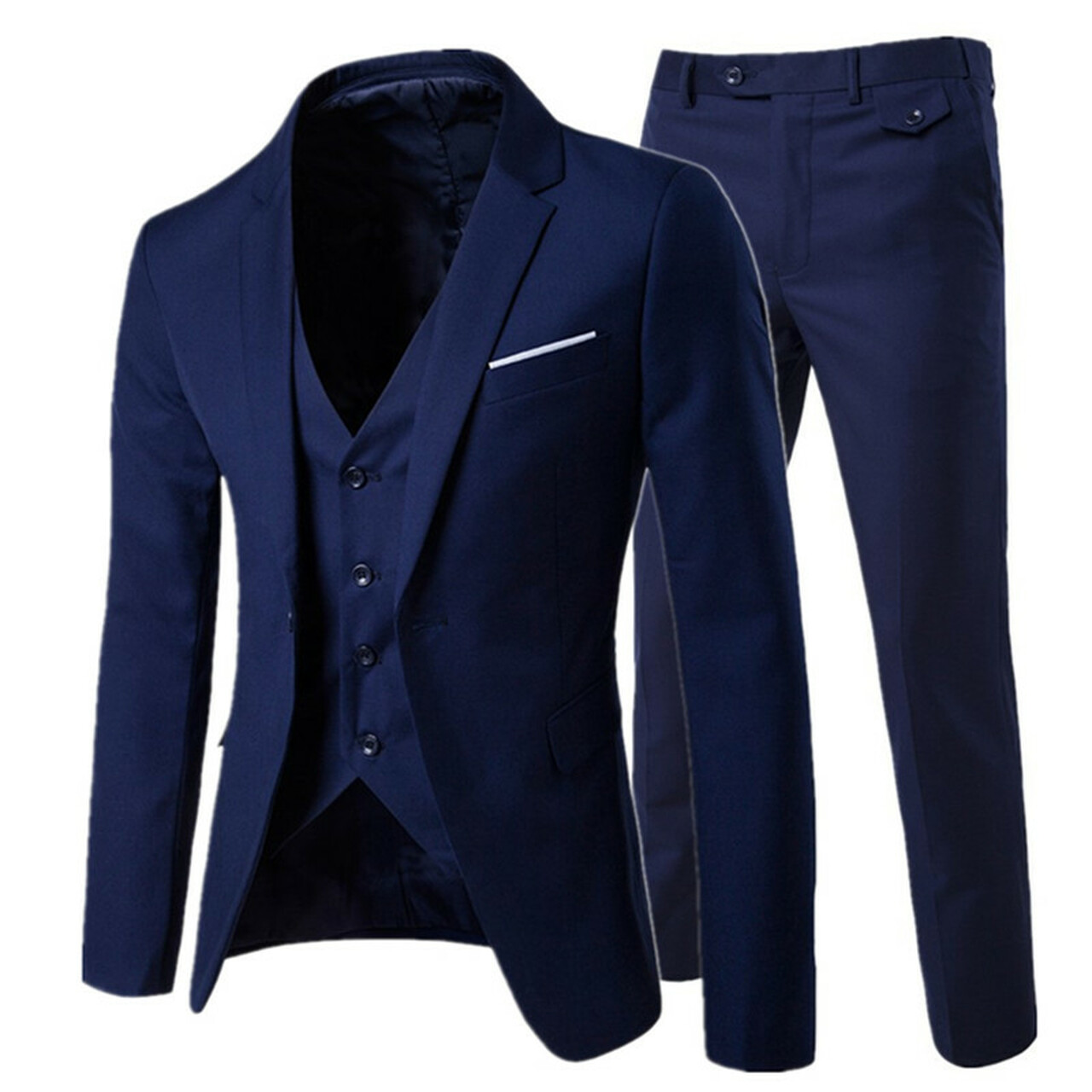 bdab12ac1b9 2018  men s fashion Slim suits men s business casual clothing groomsman  three-piece suit Blazers ...