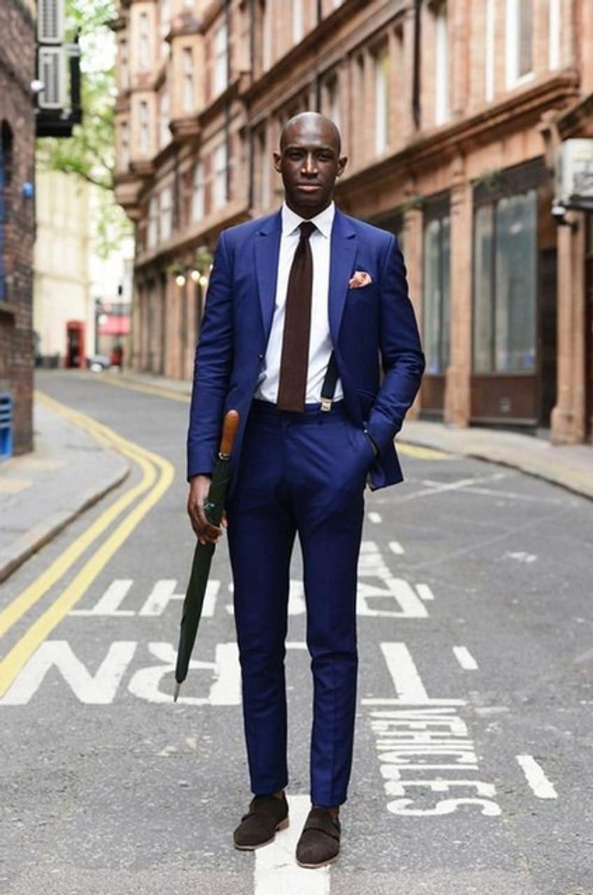 bba9e4e5a0b ... Slim Fit Men Suit Tuxedo With Black Lapel Wedding Suit For Man Ternos  Masculino Mens Suits ...