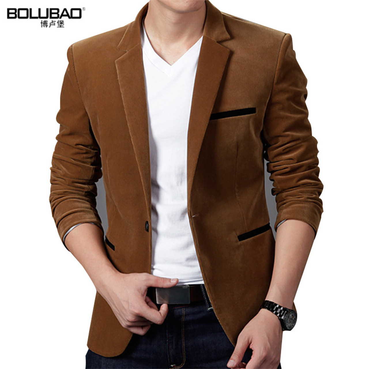 c5ab5a8736dc70 BOLUBAO 2017 New Arrival Brand Clothing Spring Blazer Men Fashion Slim Fit  Masculine Blazers Mens Casual ...