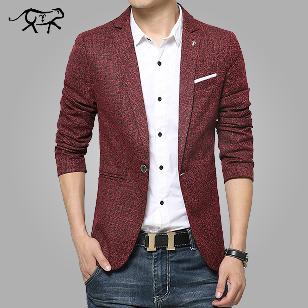 32f34ffb0221a ... 2017 New Mens Blazer Spring Fashion Suits For Men Top Quality Blazers  Slim Fit Jacket Outwear ...