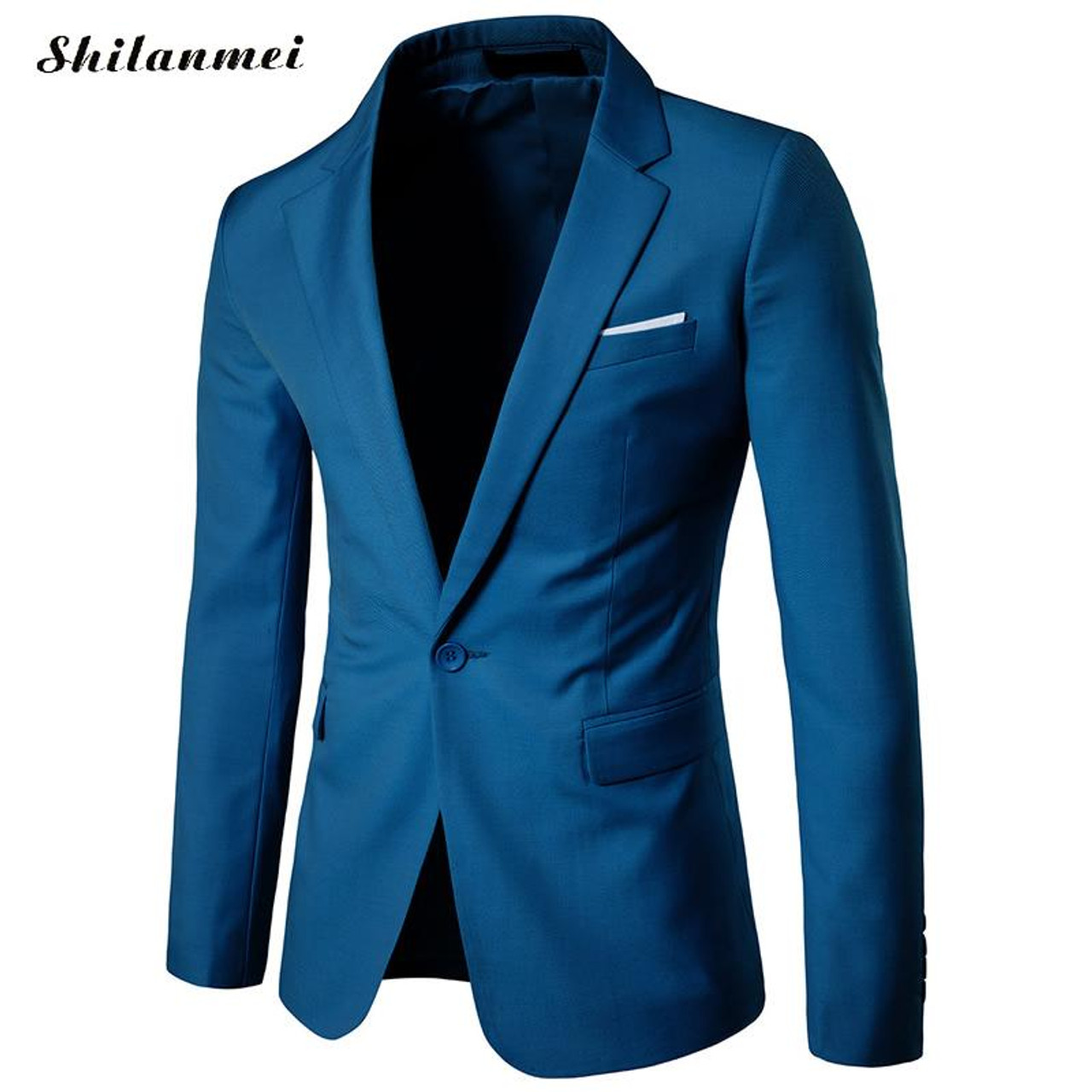 2017 New Fashion Mens Blazer Casual Suits Slim Fit Suit Jacket Men Veste Homme Costume Cotton Masculin Blazer Jacket Plus Size Onshopdeals Com