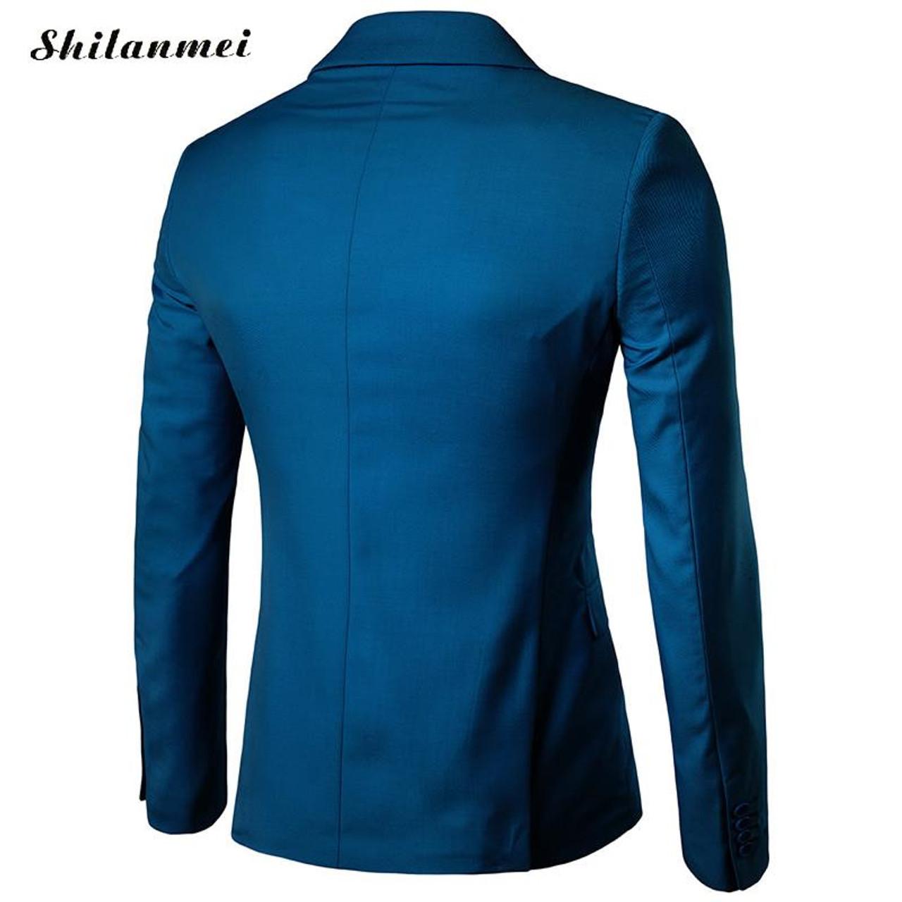 livraison gratuite beaucoup à la mode 2019 original 2017 New Fashion Mens Blazer Casual Suits Slim Fit suit jacket Men veste  Homme Costume Cotton Masculin Blazer jacket plus size