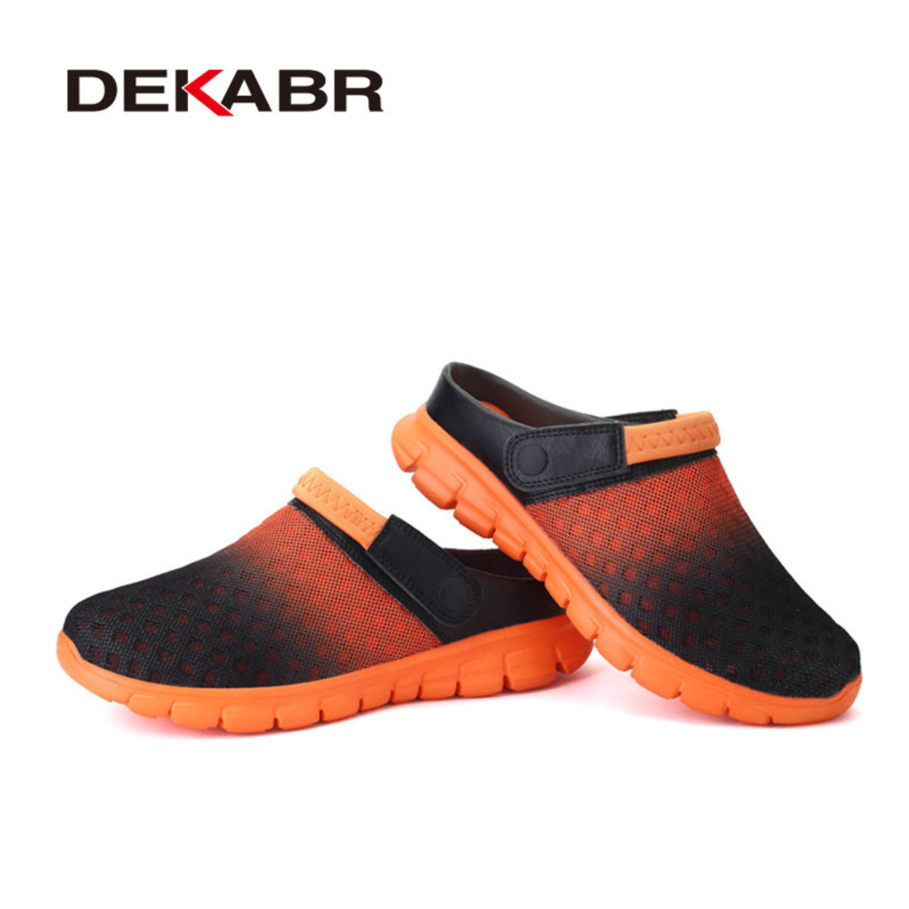 7ce4f08d6d315 ... Big Size 36-46 Men Summer Shoes Sandals New Breathable Beach Flip Flops  Slip On ...