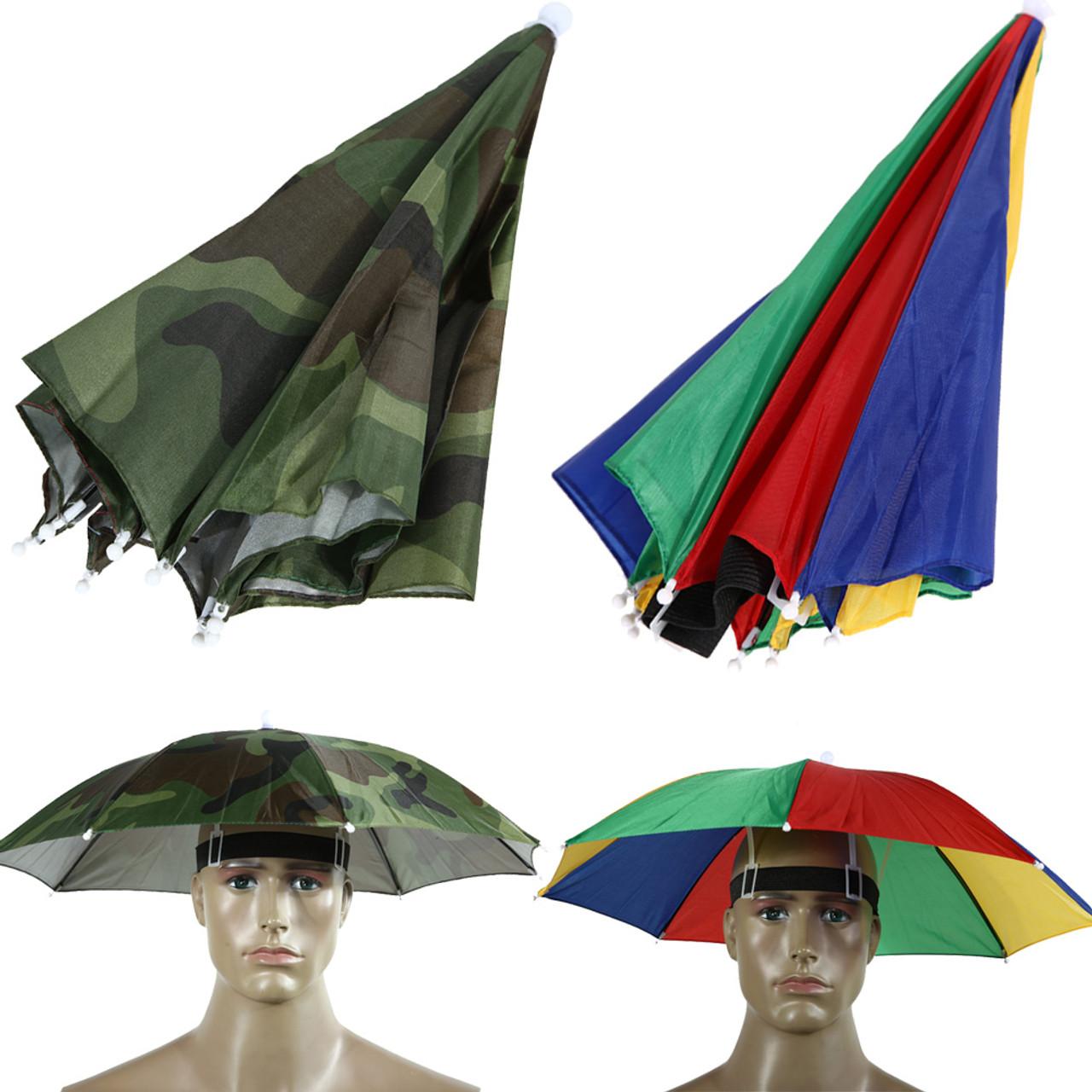 79a357c7 2 Color Umbrella Hat Parapluie Sun Umbrella Sun Shade Camping Hiking  Fishing Umbrella Festivals Outdoor Brolly ...