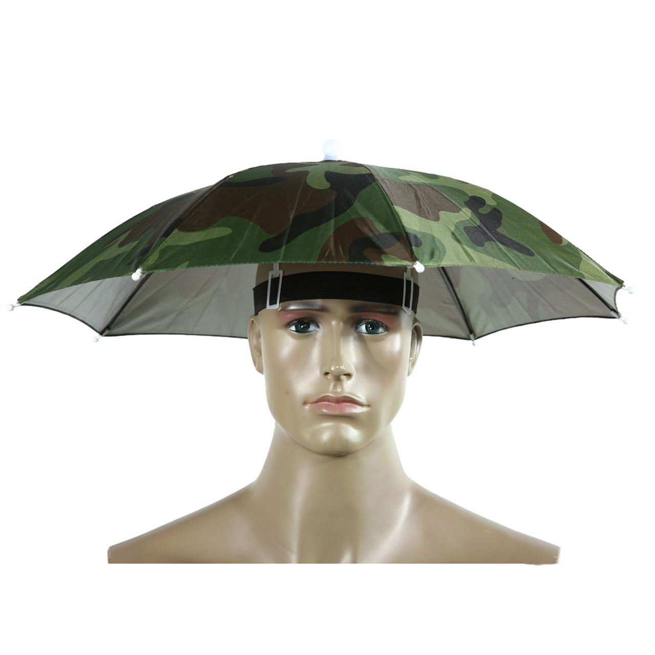 6a726e86 ... 2 Color Umbrella Hat Parapluie Sun Umbrella Sun Shade Camping Hiking  Fishing Umbrella Festivals Outdoor Brolly ...