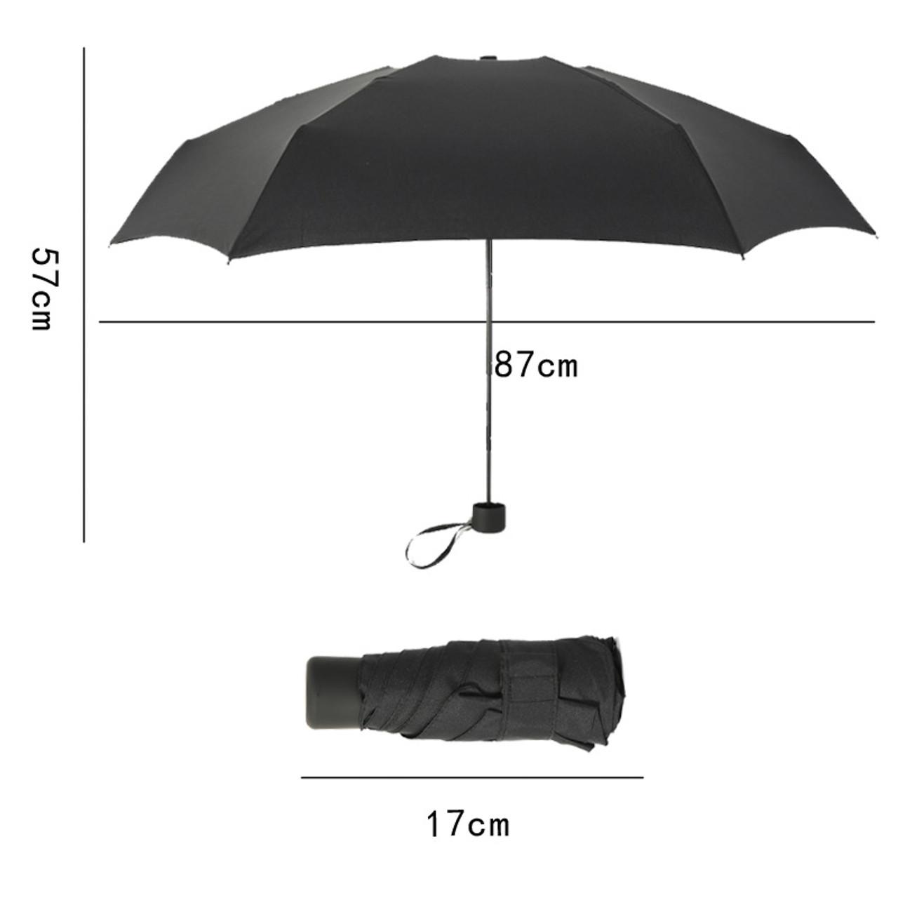 55e0160de7c9 180g Small Fashion Folding Umbrella Rain Women Gift Men Mini Pocket Parasol  Girls Anti-UV Waterproof Portable Travel UMBRELLAS