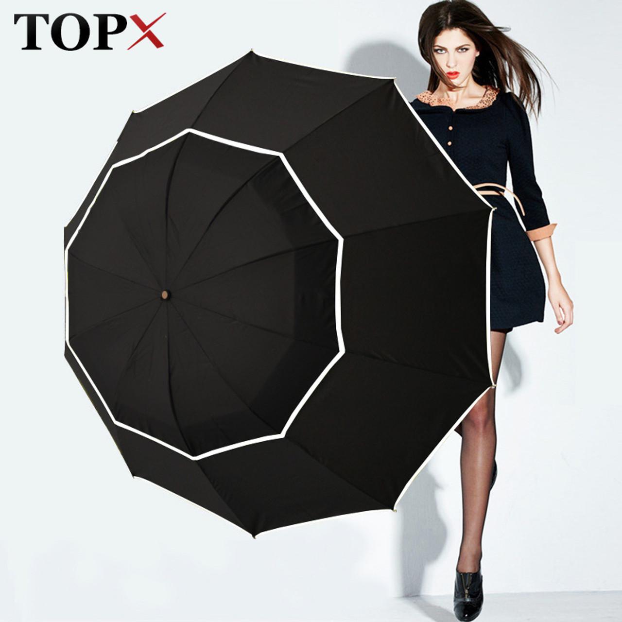 f51d1f9d9 TOPX Big Top Quality Umbrella Men Rain Woman Windproof Large Paraguas Male  Women Sun 3 Folding ...