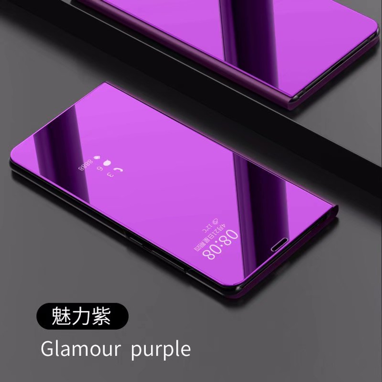timeless design 99483 f0668 Mirror Flip Case For Samsung Galaxy A6 A5 A8 2018 J6 J2 J5 J7 Clear View  Window Smart Cover For Galaxy S8 S9 Plus S7 Edge Note 8