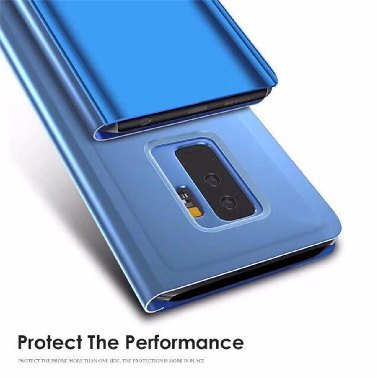 timeless design d18c0 70ca4 Mirror Flip Case For Samsung Galaxy A6 A5 A8 2018 J6 J2 J5 J7 Clear View  Window Smart Cover For Galaxy S8 S9 Plus S7 Edge Note 8