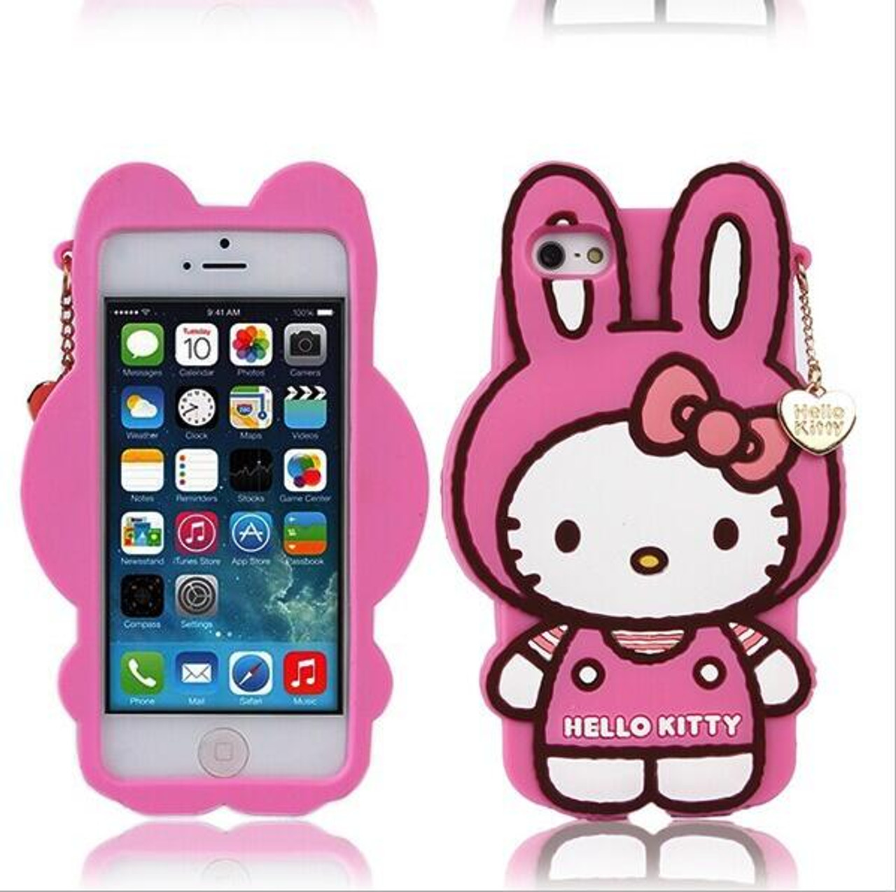 best loved d9939 ddf92 Cartoon Hello Kitty Case For Funda iPhone 6 6S Case Luxury Silicone Capinha  Cute Rabbit Coque For Capa Para iPhone 6 Plus Cases