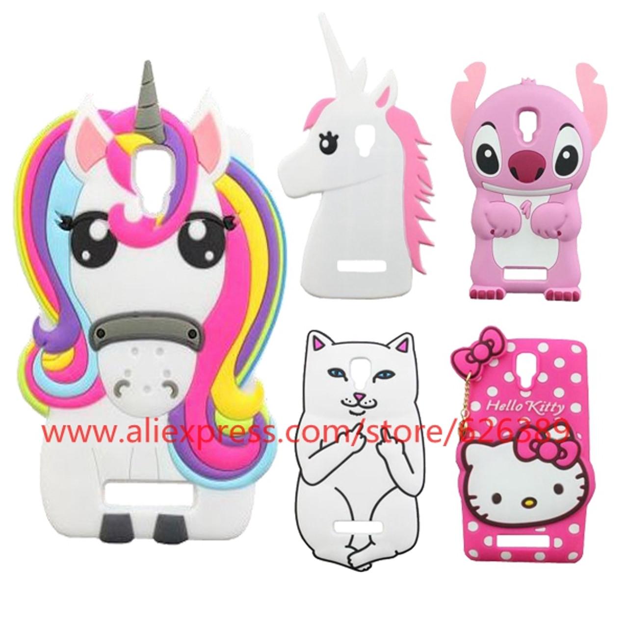 3e8de917f For Lenovo A1000 Case New Unicorn Pony Stitch Hello Kitty Lord Nermal Poket  Cat Design 3D ...
