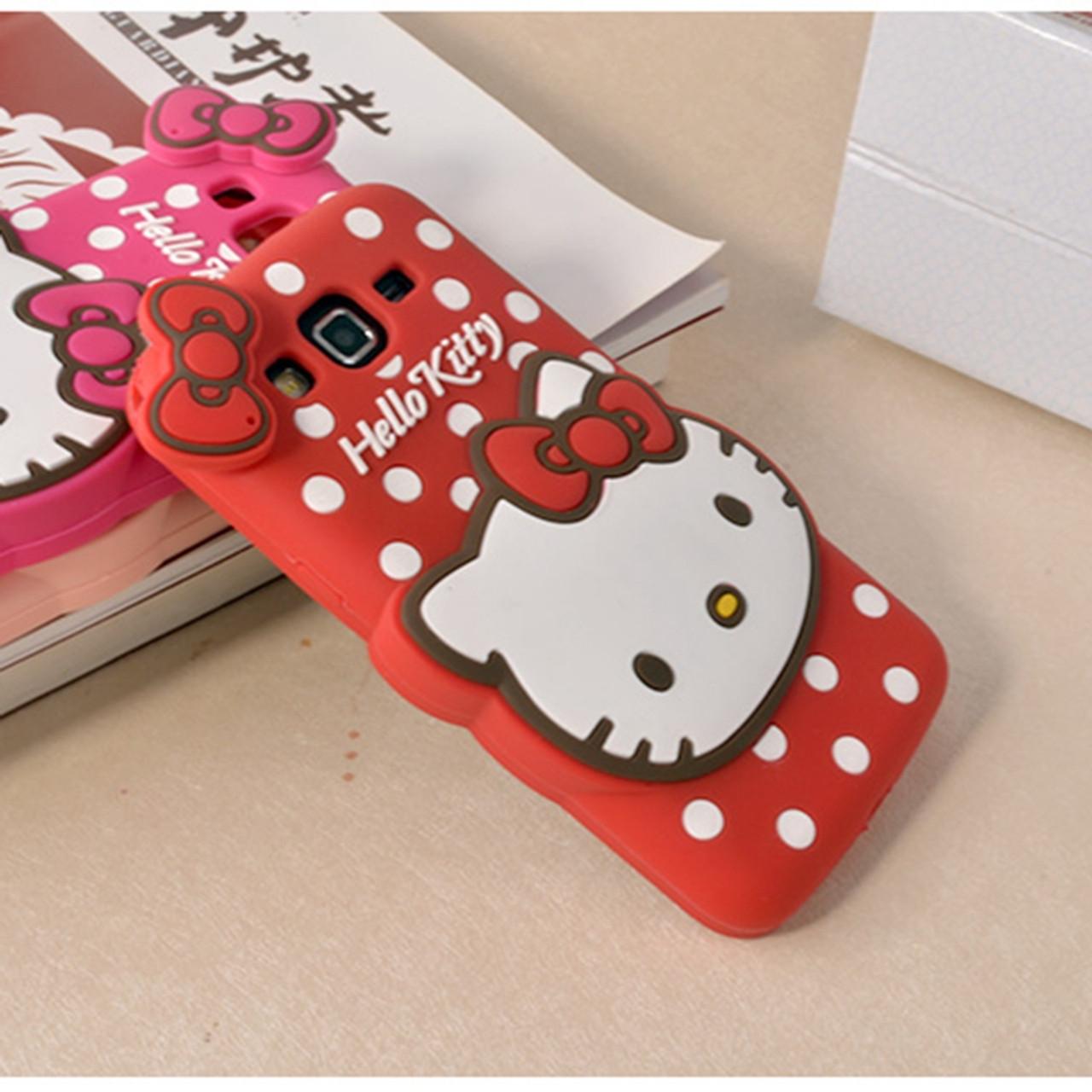 47865671e ... Luxury 3d cute cartoon hello kitty women phone case cover for samsung  galaxy A5 A7 A8 ...