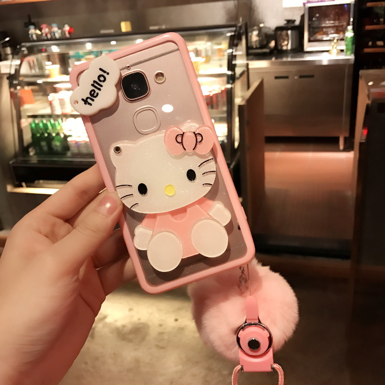 4c3d5c17a ... For samsung galaxy S8 plus /s7 edge /s6 case Pink Hello kitty KT cat ...