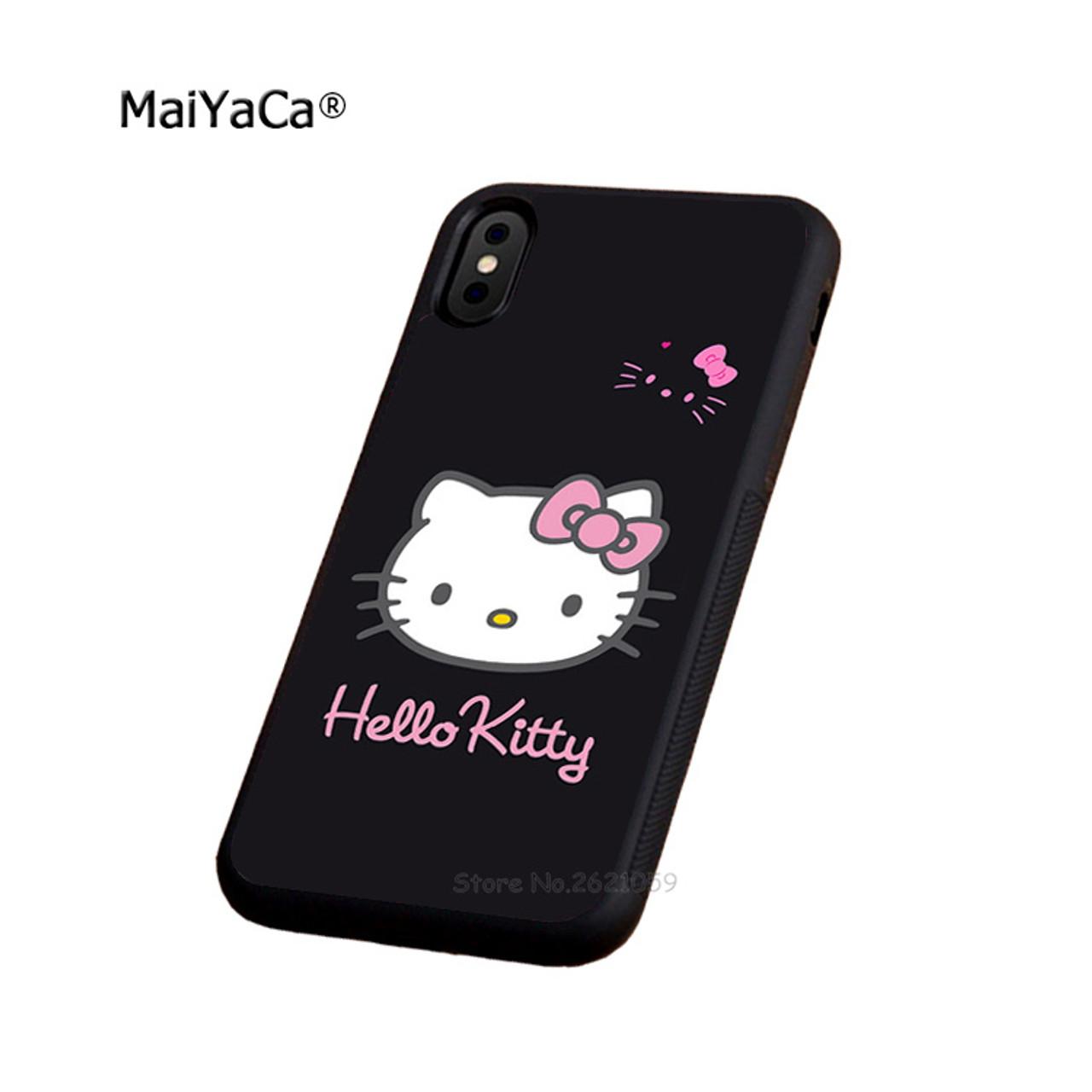 7d9d0a61c i love hello kitty soft edge phone case for iphone x 5c 5s se 6 6s 6plus  6splus 7 7plus 8 8plus black silicone cover case - OnshopDeals.Com