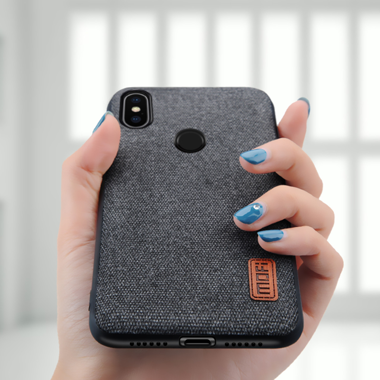 d6003ef73b4 ... Xiaomi Redmi Note 5 Pro case cover note5 global version back cover  silicone edge fabric case ...
