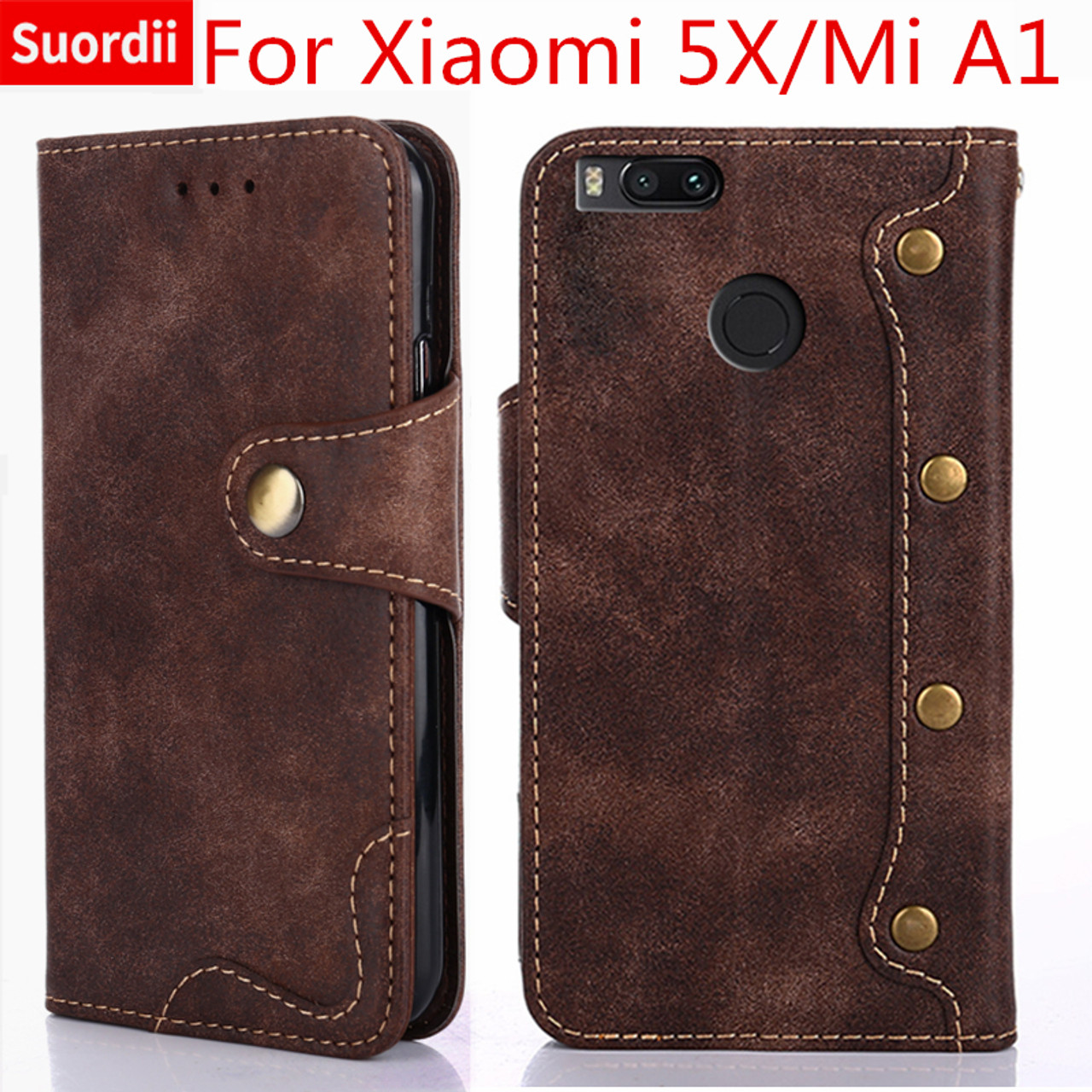 newest a0514 980d1 Luxury Case For Xiaomi Mi 5X Mi A1 Book Style Flip Leather Wallet Case For  Xiaomi A1/5X Stand Card Holder Covers