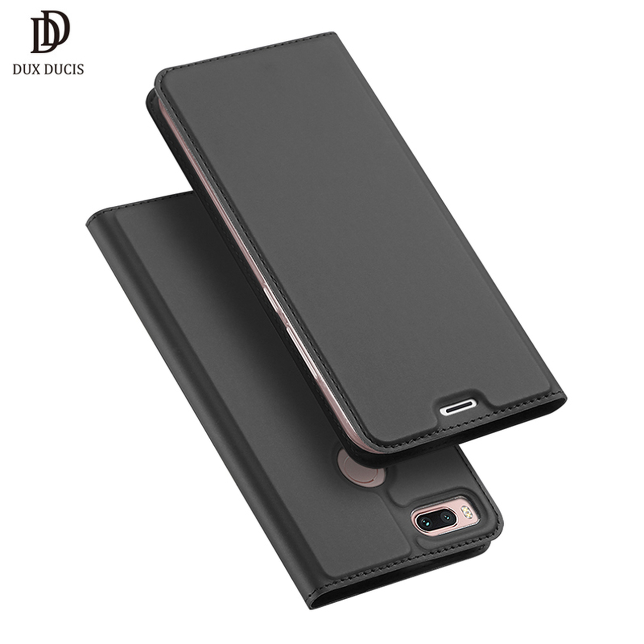 buy popular 44c94 6375f DUX DUCIS Leather Flip Case for Xiaomi Mi A1 Wallet Funda Book Phone Cover  for Xiaomi Mi A1 Global xiomi mia1 my a1 5x 5.5