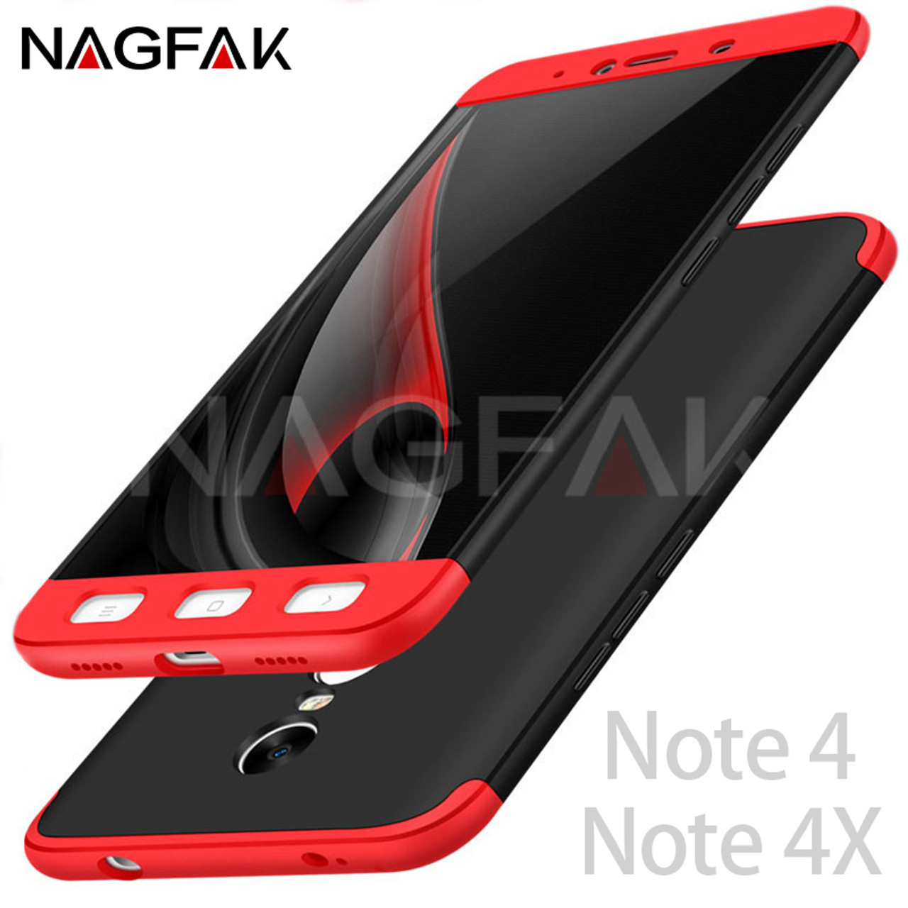 meet d28b1 dc653 NAGFAK Luxury Protective Case For Xiaomi Redmi Note 4 Note 4X Phone Shell  360 Degree Cases Note4 Global Version Phone Case Capa