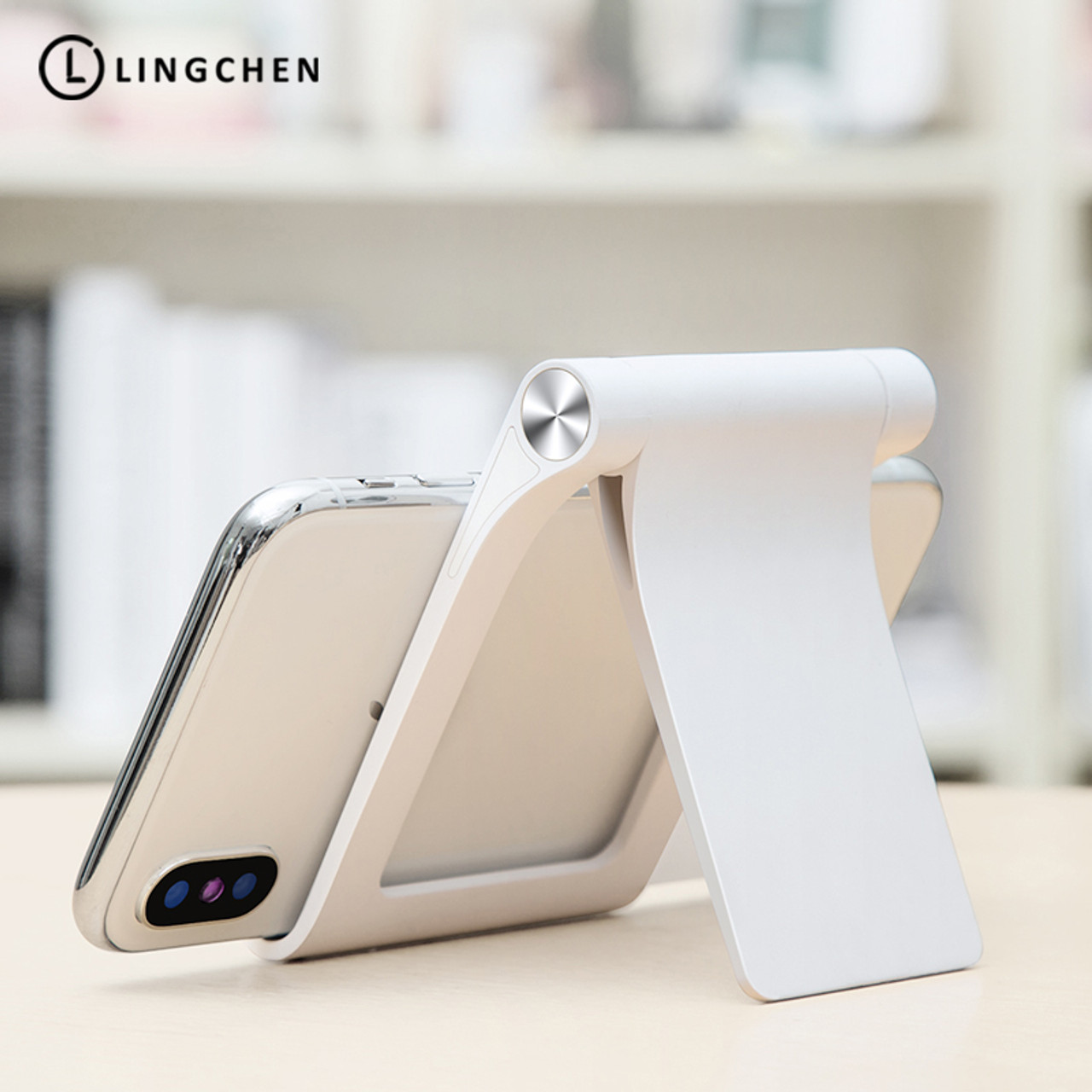 173e67c7db2ca0 LINGCHEN Universal Mobile Phone Holder Stand Foldable Holder For Phone For  iPhone Desk Tablet Stand Cell ...