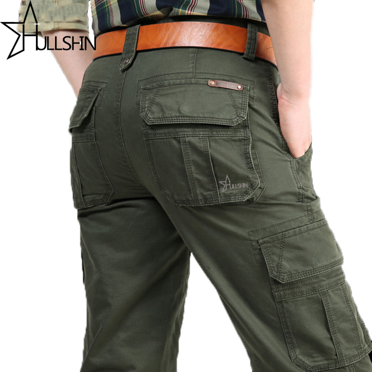 ab19af7aa10da 2018 Brand Mens fashion Military Cargo Pants Multi-pockets Baggy Men Pants  Casual Trousers Overalls ...