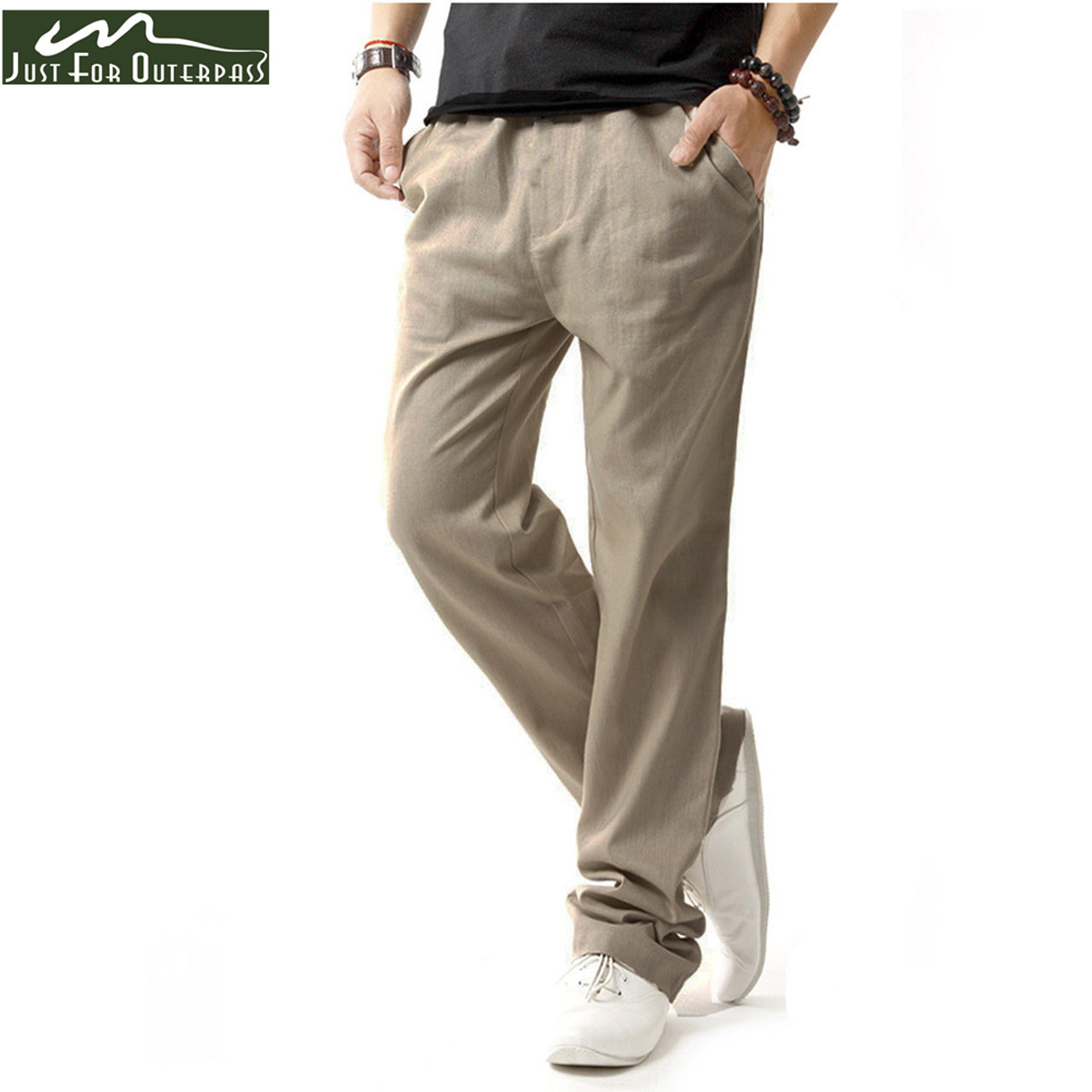 7f156d17481 ... 2018 New Arrival Fashion Summer Linen Pants Men Breathable Casual Pants  Comfort Mens Big Size Flax ...