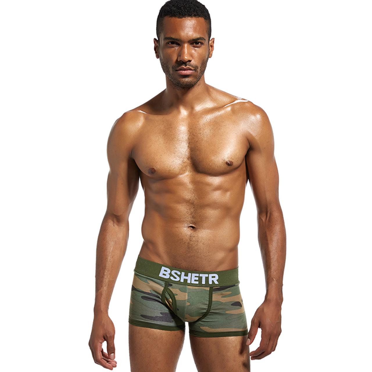 9537feb256dc ... BSHETR Brand Male Underwear Sexy Men Boxer Shorts Soldier Breathable  Cotton U Convex Boxers Homme Tide ...