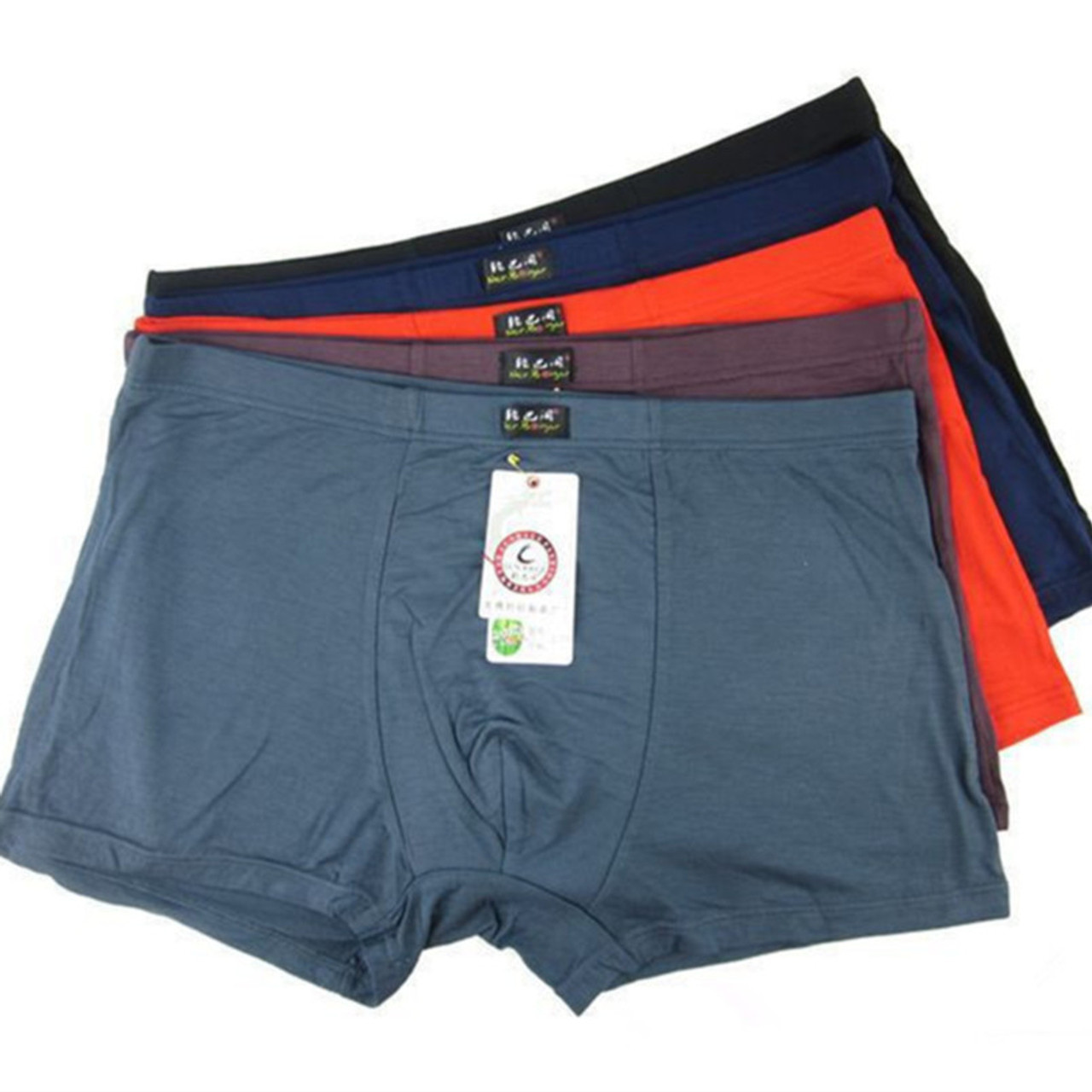 c443974858a5 5PCS/lot Top Quality Boxers Bamboo Underwear Male Underwear Box Plus Big  Size XL- ...