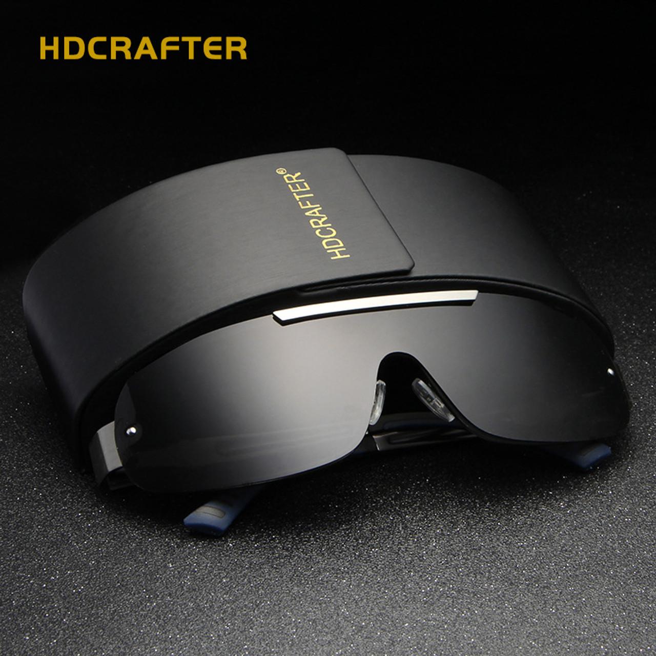 dc0e24c488c9f Polarized Sunglasses Men 2018 HDCRAFTER Vintage Sun Glasses Man Brand  Designer Lunettes De Soleil Pour Hommes ...