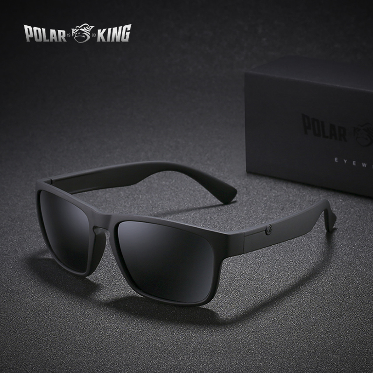 723e8c9943b6a POLARKING Brand Polarized Sunglasses For Men Plastic Oculos de sol Men s  Fashion Square Driving Eyewear Travel ...